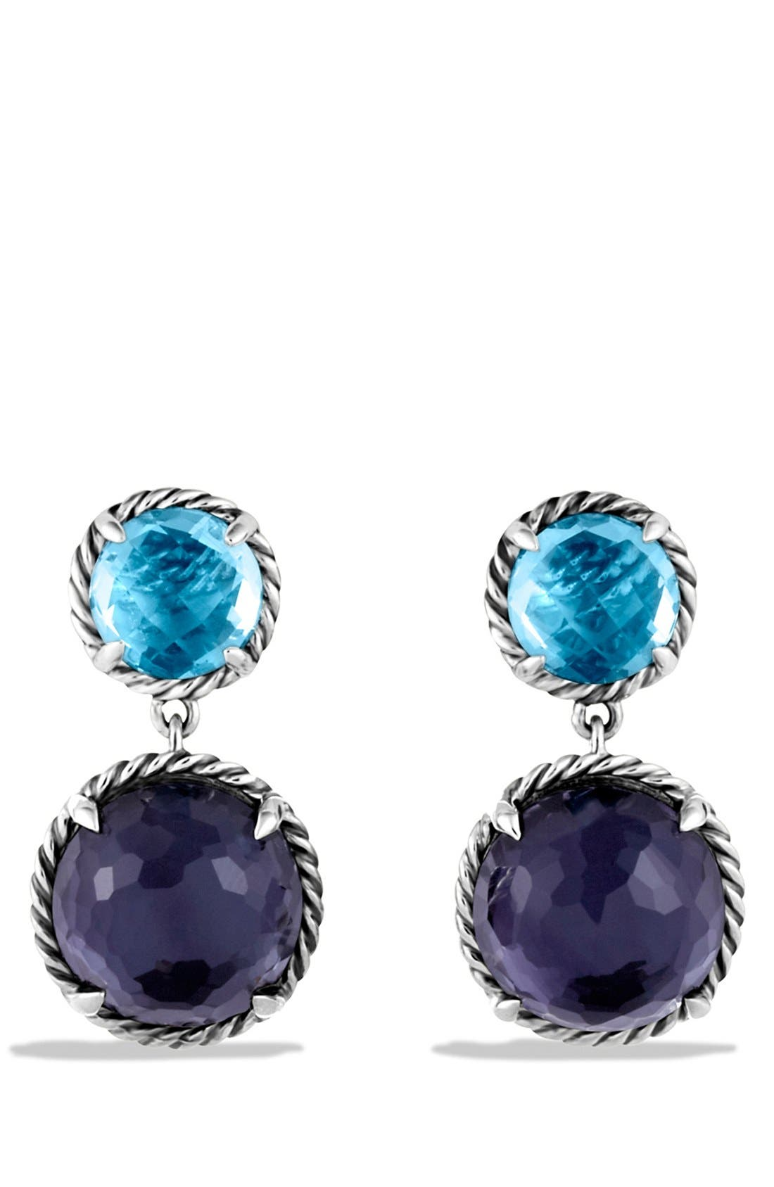 DAVID YURMAN 'Châtelaine' Double Drop Earrings with Black