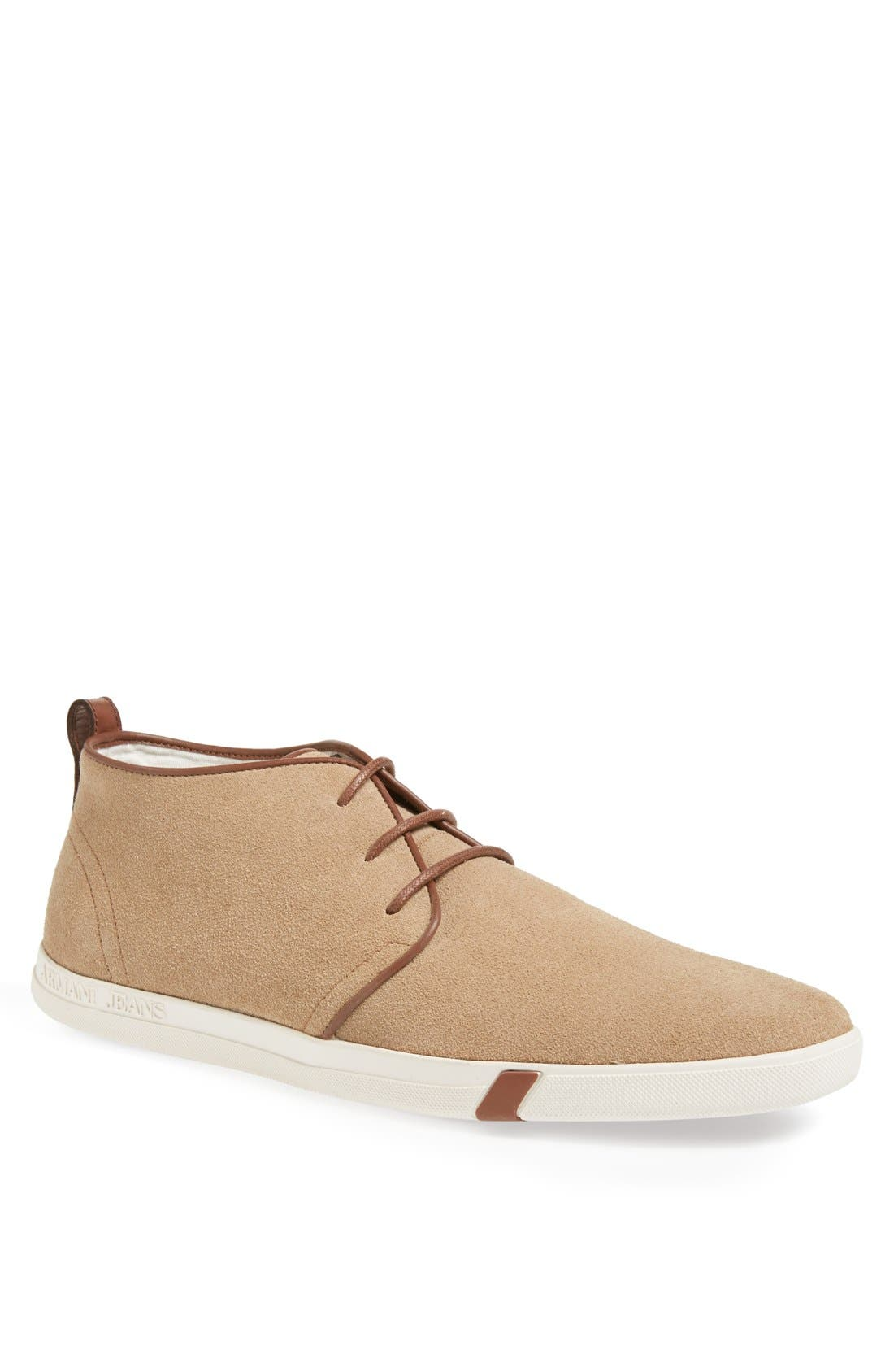 Alternate Image 1 Selected - Armani Jeans Suede Chukka Boot (Men)