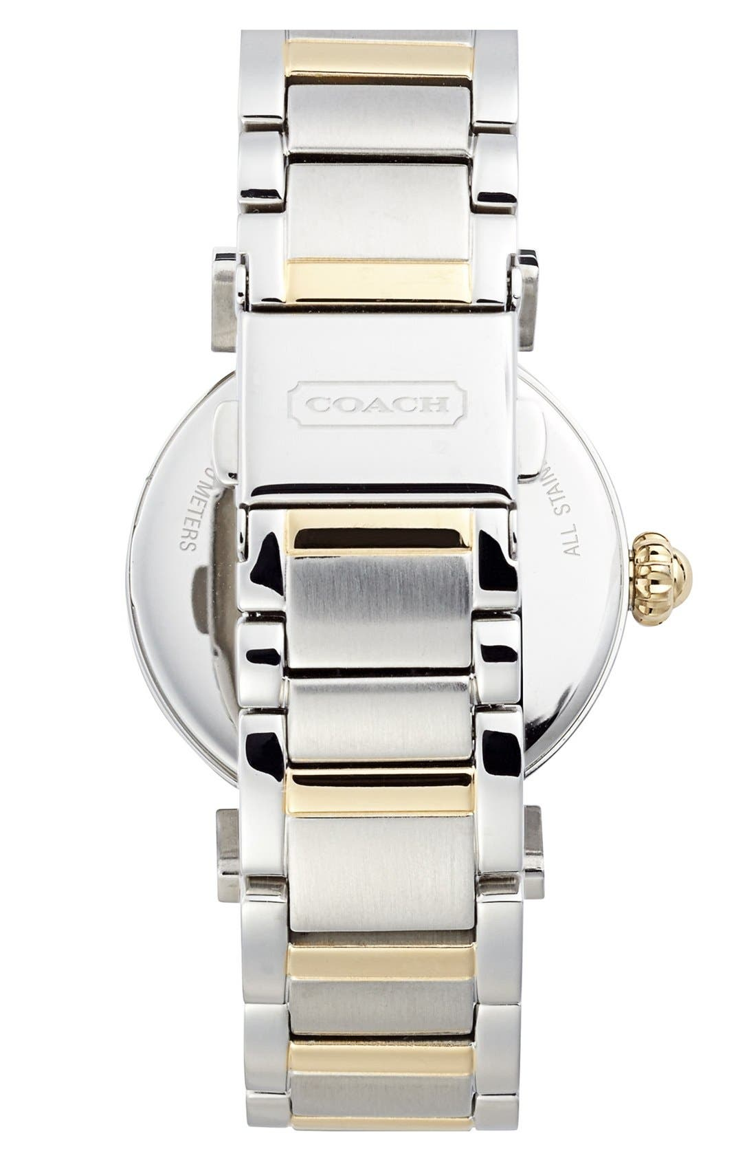 Alternate Image 2  - COACH 'Madison' Round Crystal Bezel Bracelet Watch, 32mm