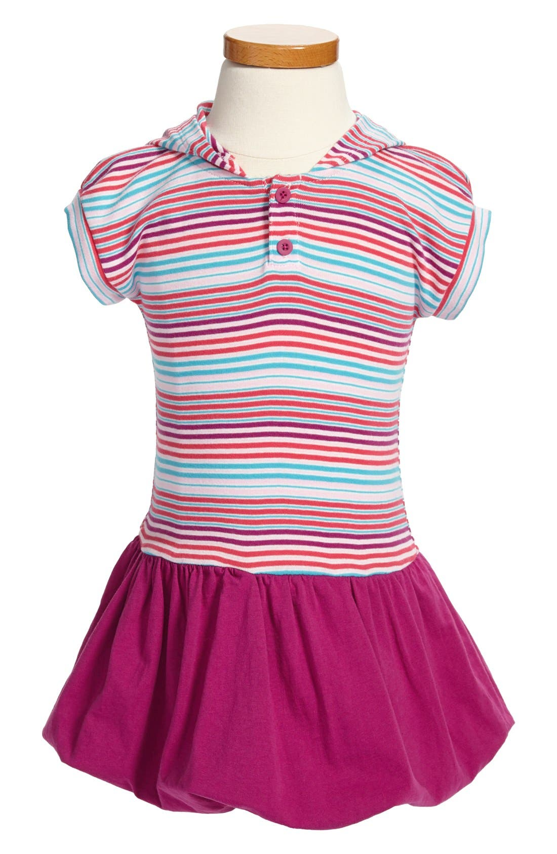 Alternate Image 1 Selected - Tea Collection 'Market Stripe' Bubble Dress (Toddler Girls)