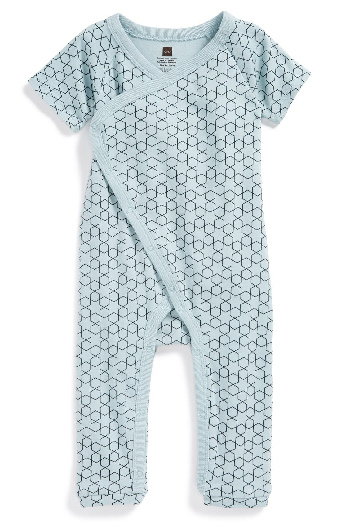 Main Image - Tea Collection 'Little Star' Cotton Romper (Baby Boys)