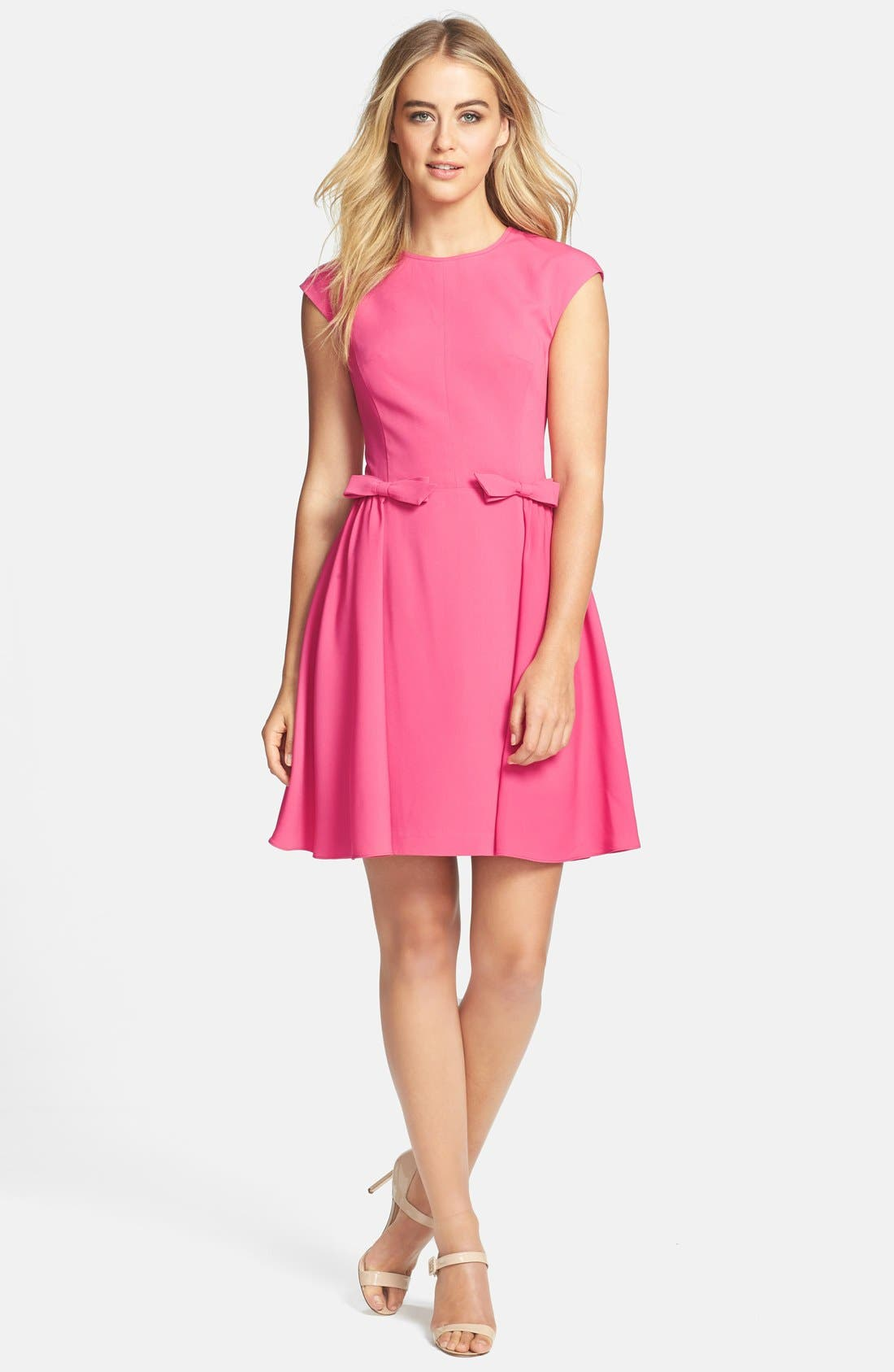 Main Image - Jill Jill Stuart Bow Detail Crepe Fit & Flare Dress
