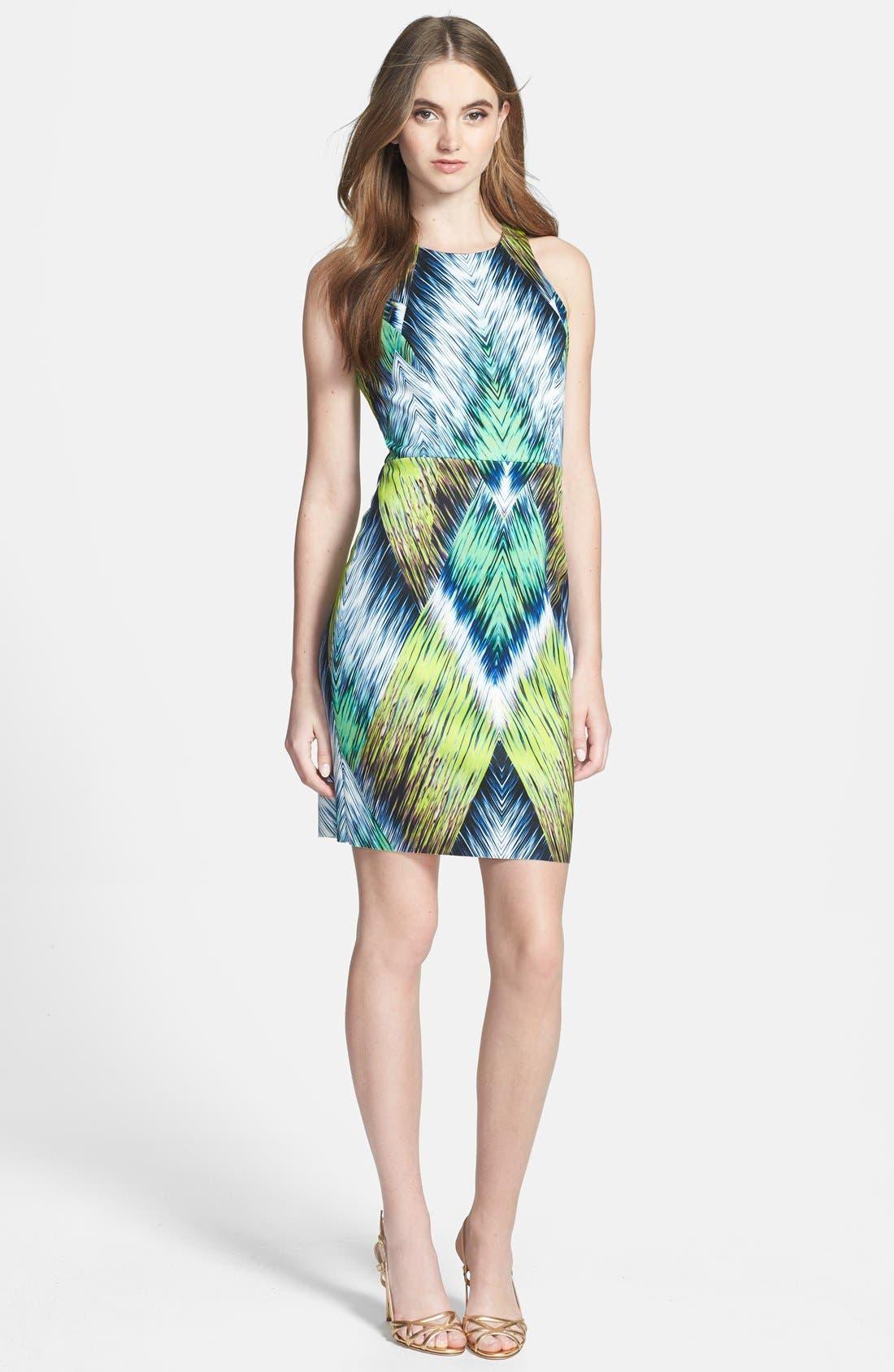 Alternate Image 1 Selected - Milly Print Neoprene Sheath Dress