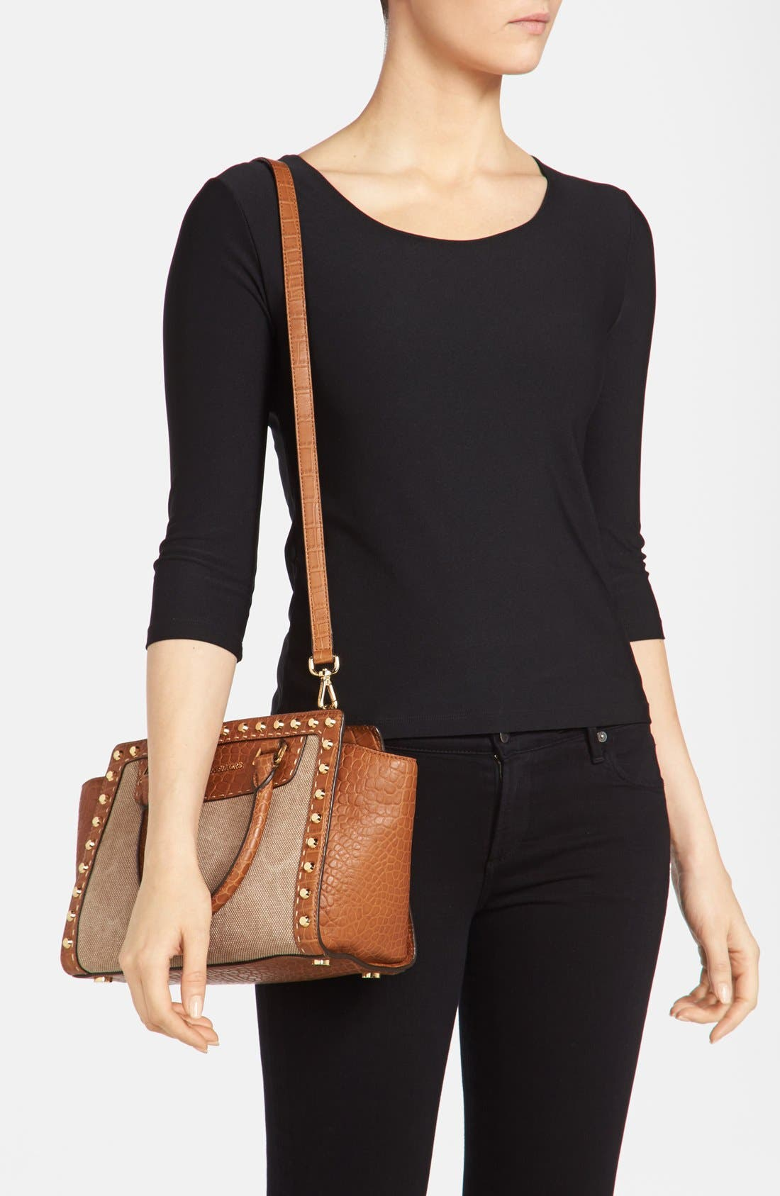 Alternate Image 2  - MICHAEL Michael Kors 'Medium Selma' Studded Satchel