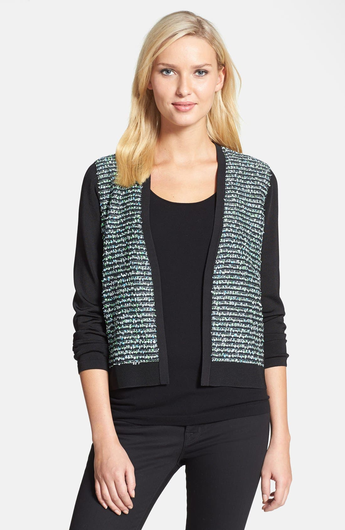 Alternate Image 1 Selected - Classiques Entier® 'Lucido' Tweed Front Cardigan