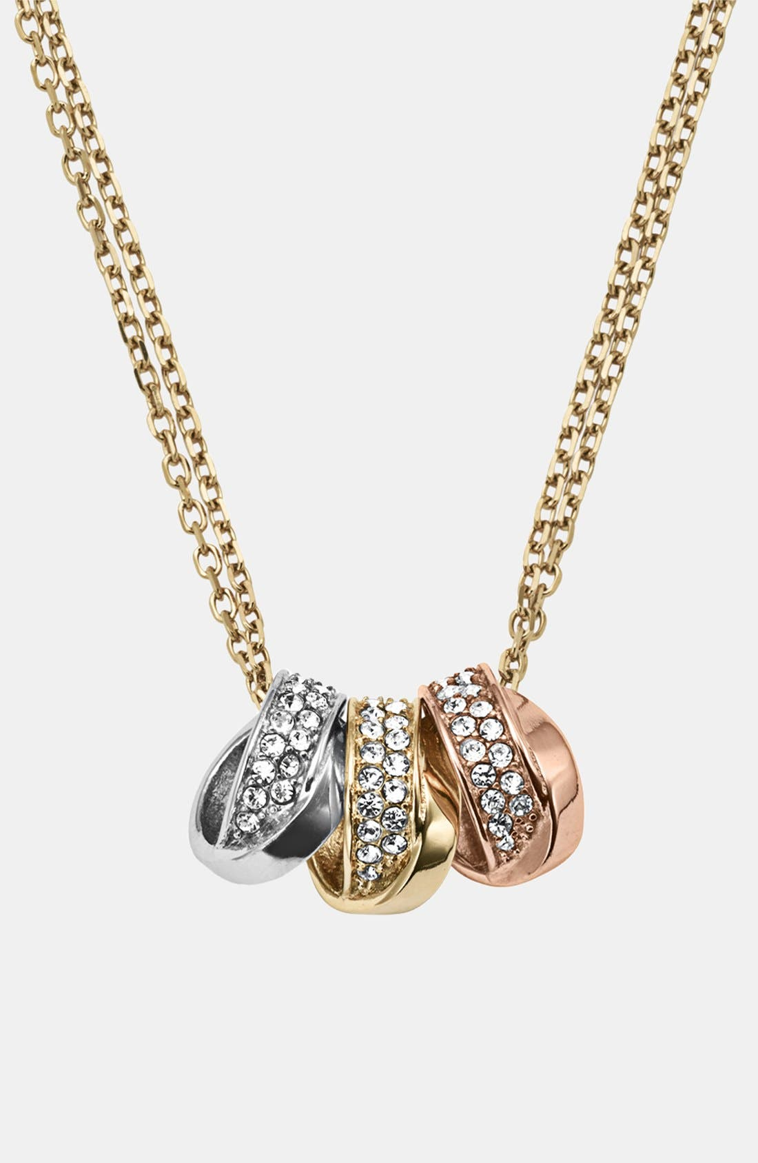 Main Image - Michael Kors 'Statement Brilliance' 3-Ring Necklace