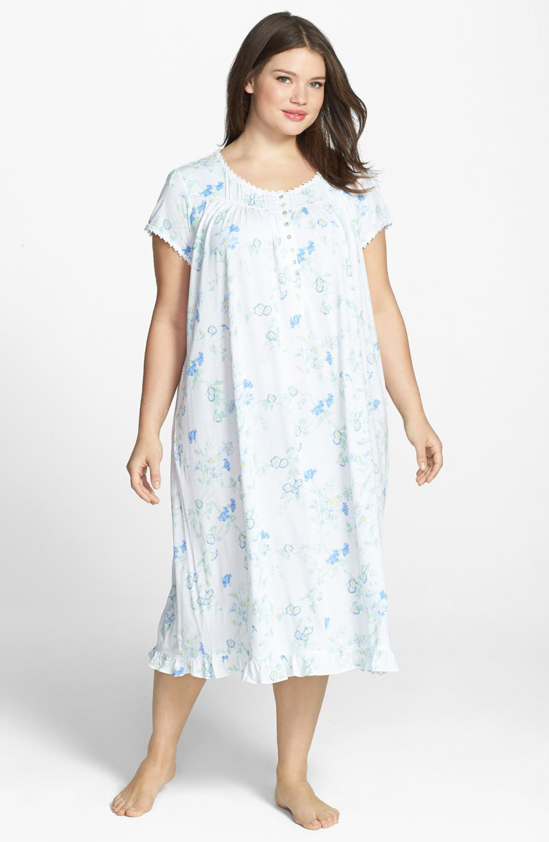 Alternate Image 1 Selected - Eileen West 'Serendipity' Nightgown (Plus Size)