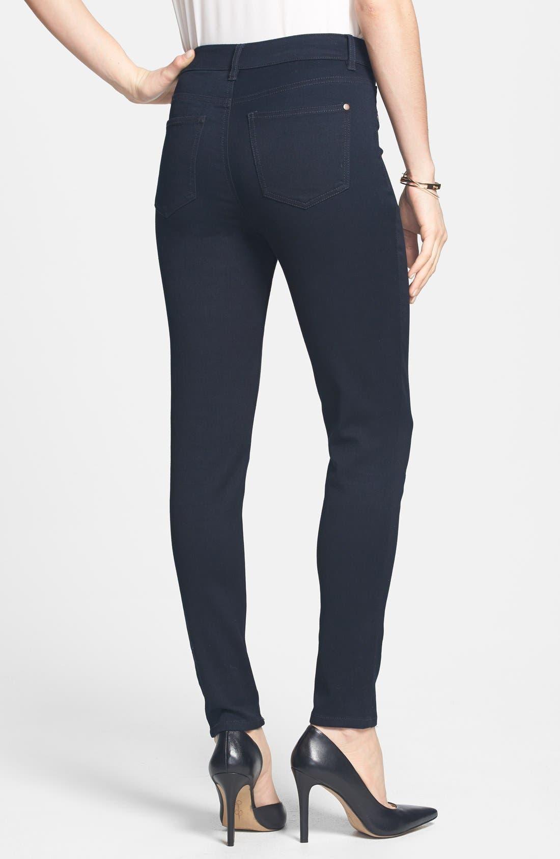 Alternate Image 2  - Fire 'The 10' High Waist Skinny Jeans (Dark Wash) (Juniors) (Online Only)