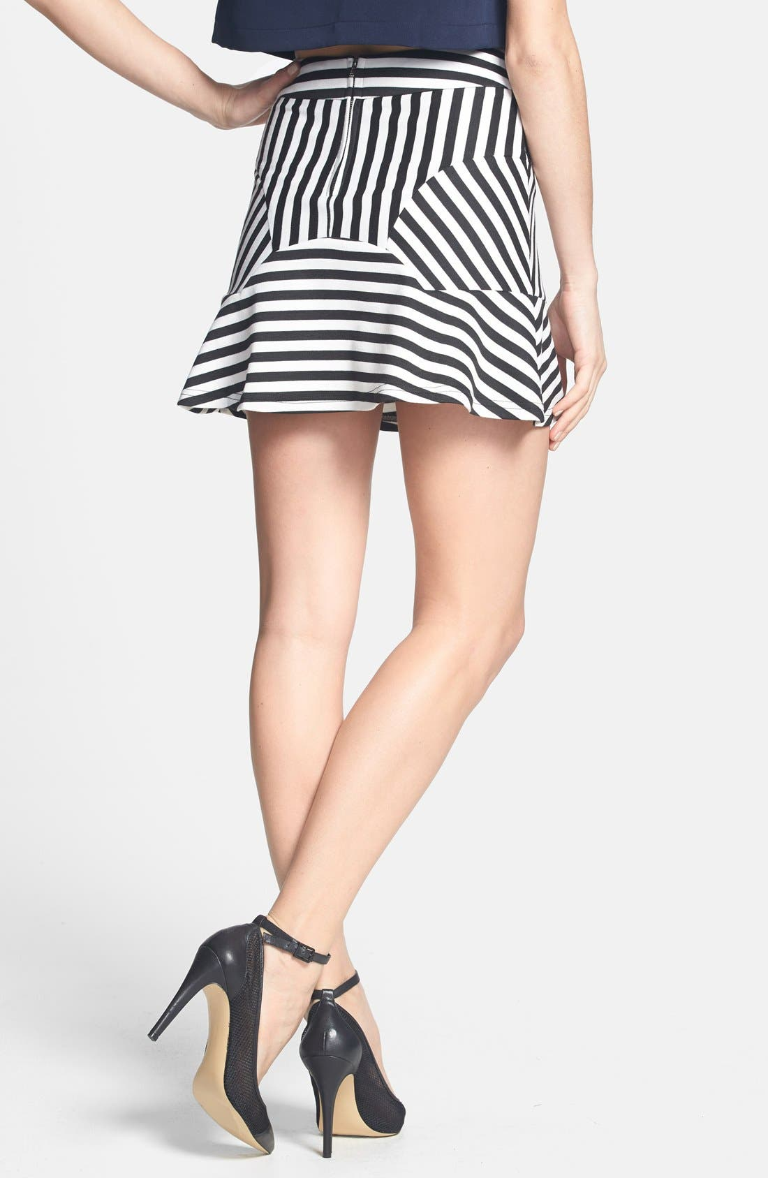 Alternate Image 2  - Dirty Ballerina 'Sailor Stripe' Paneled Miniskirt