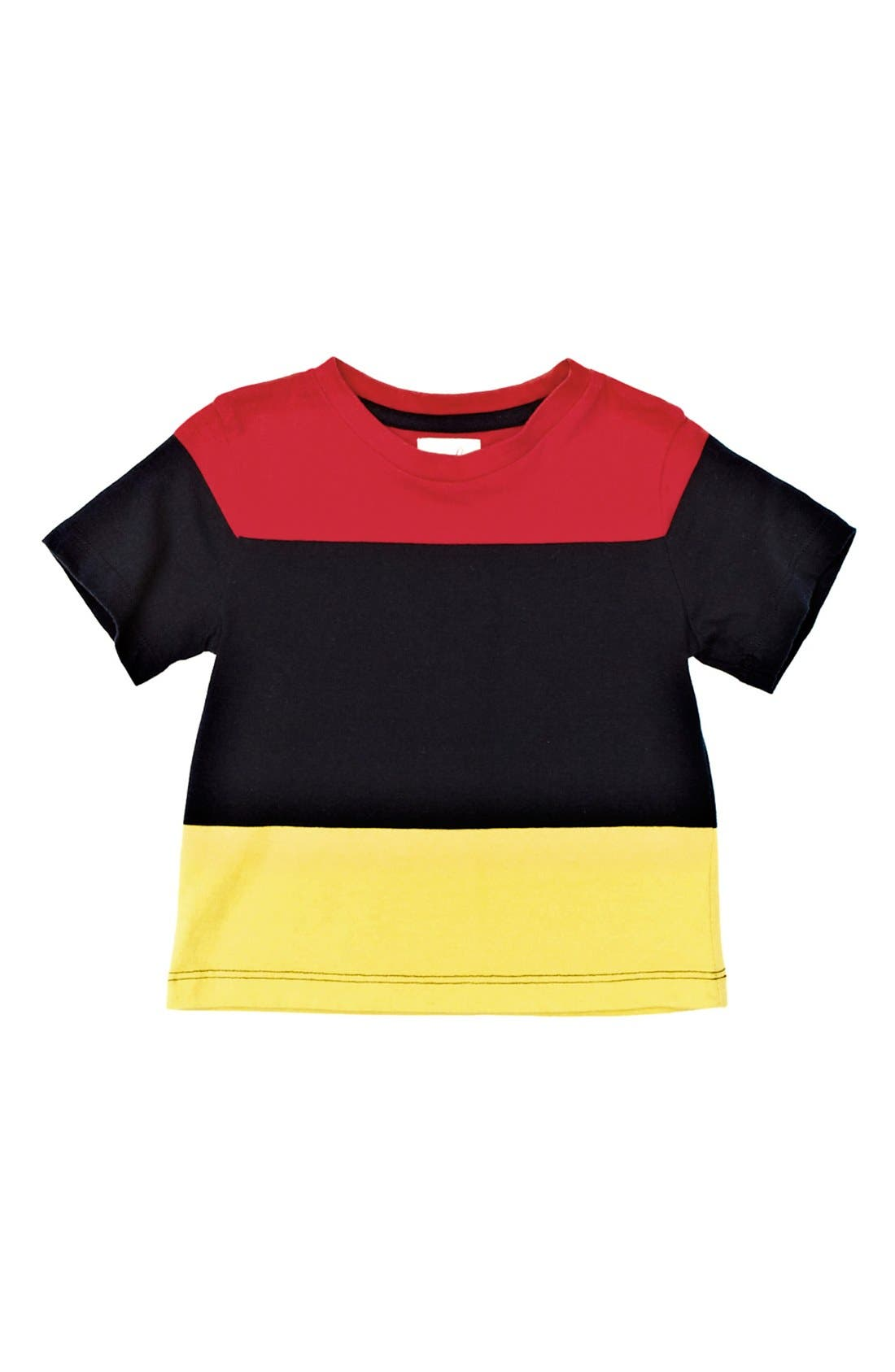 Alternate Image 1 Selected - Peek Colorblock T-Shirt (Baby Boys)