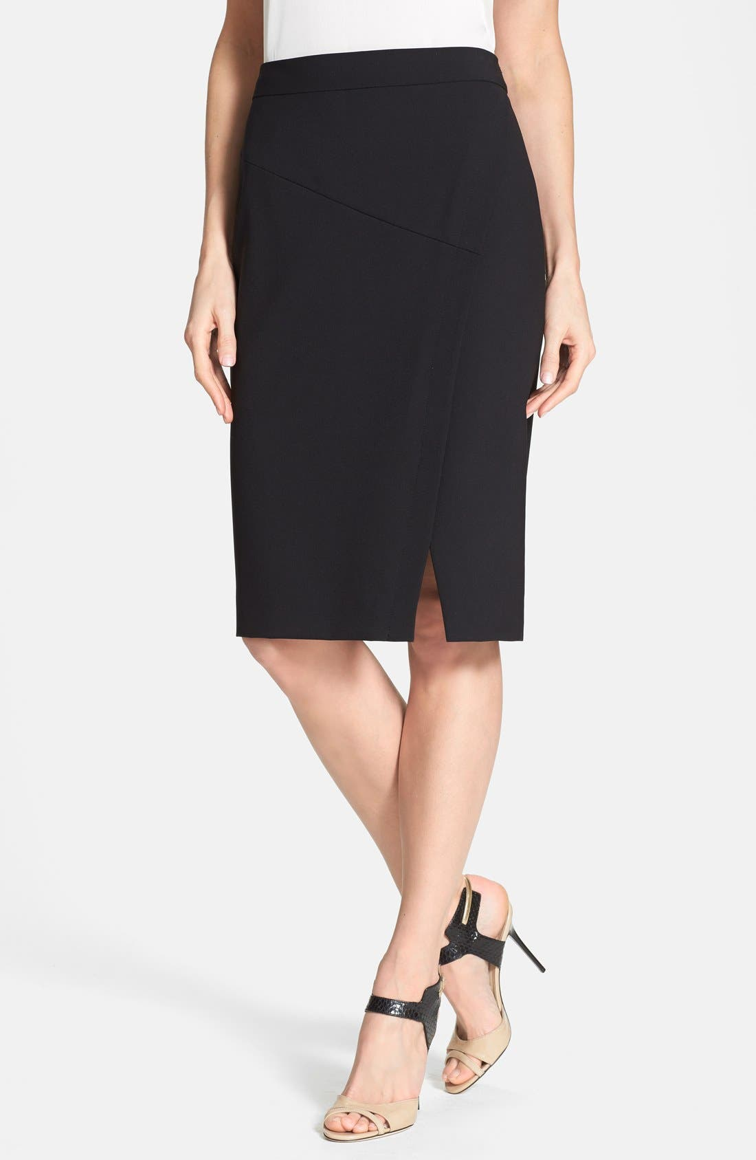 Alternate Image 1 Selected - Classiques Entier® 'Jolie' Diagonal Seam Stretch Skirt