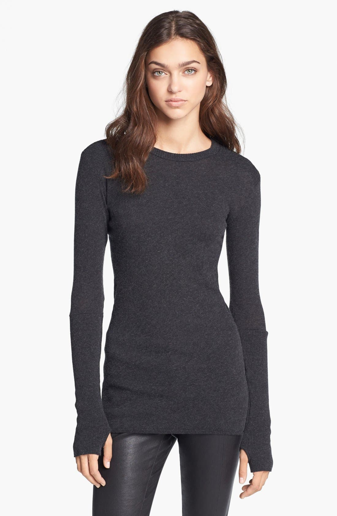Alternate Image 1 Selected - Enza Costa Cotton & Cashmere Jersey Sweater