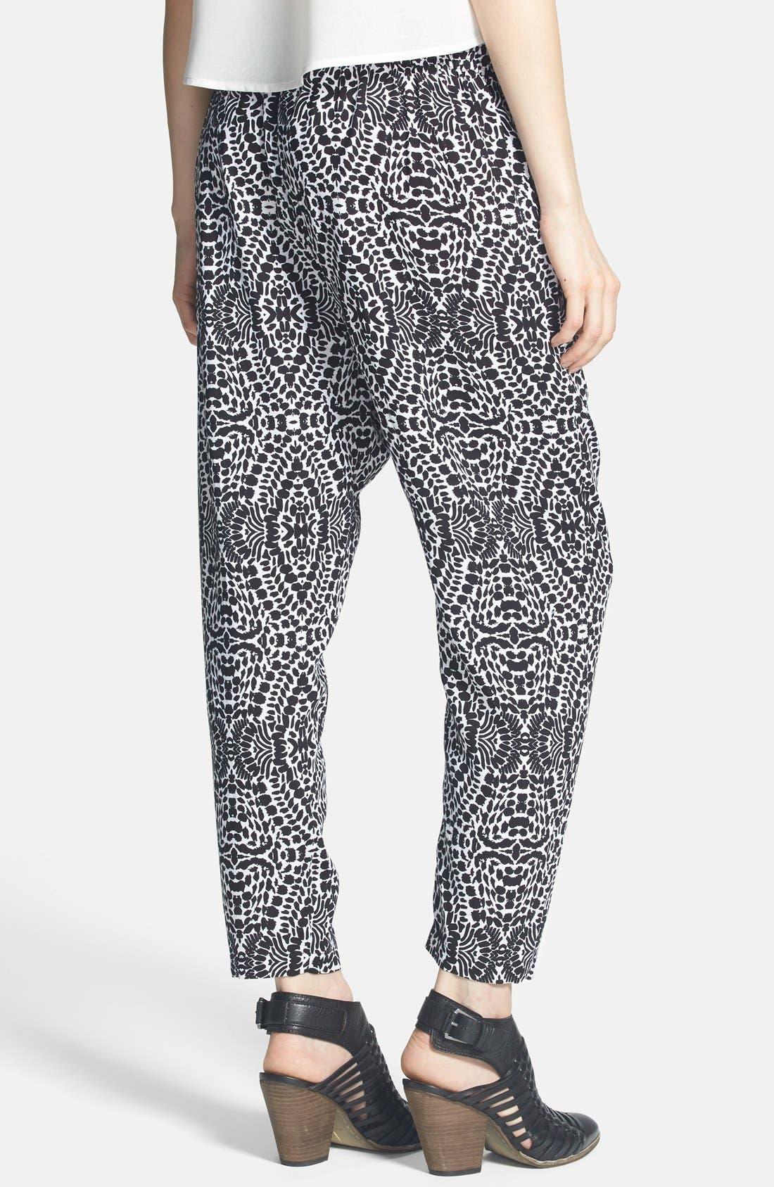 Alternate Image 2  - Mimi Chica Print Harem Pants (Juniors) (Online Only)