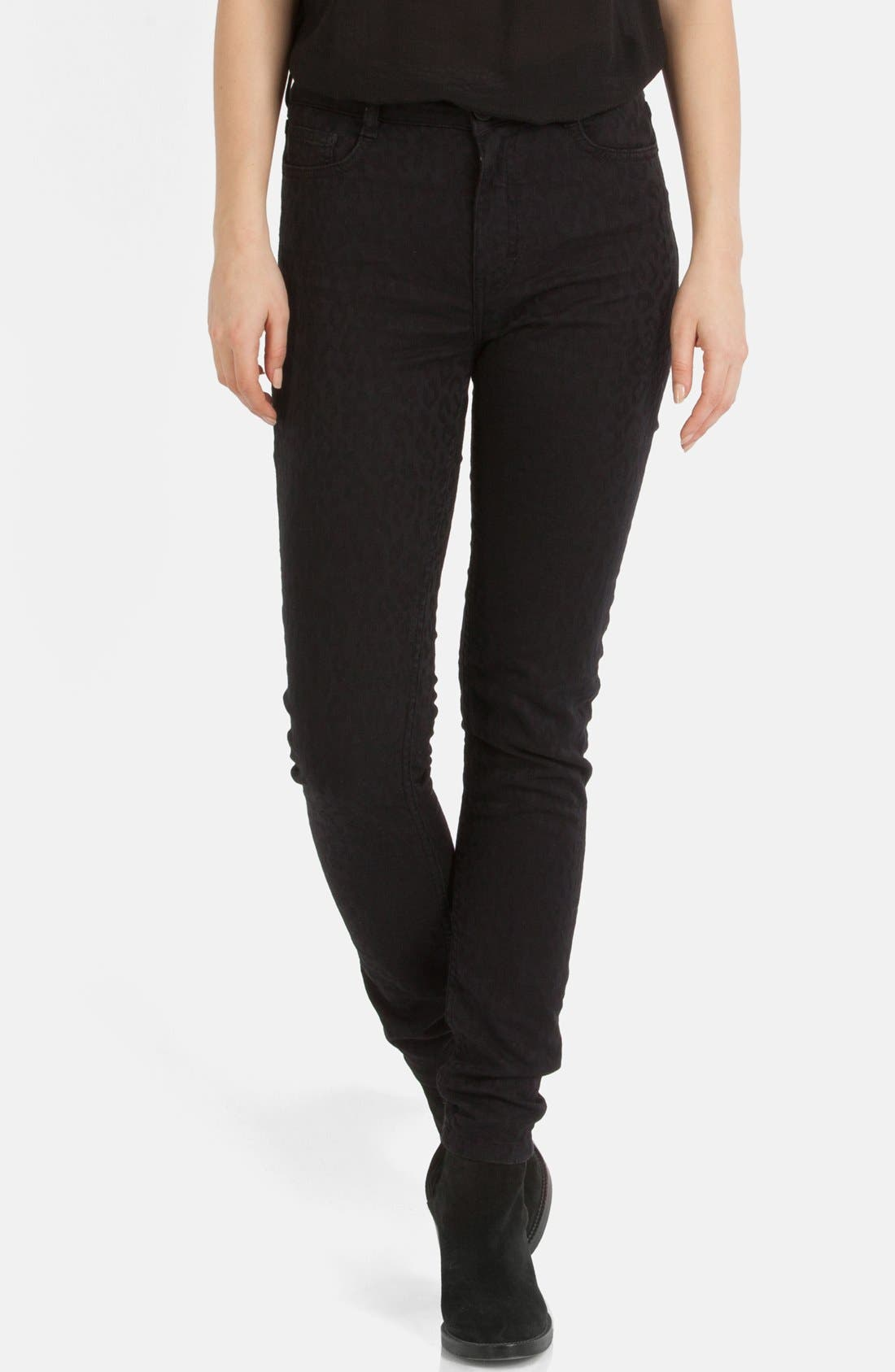 Main Image - maje 'Endless' Stretch Jacquard Skinny Jeans