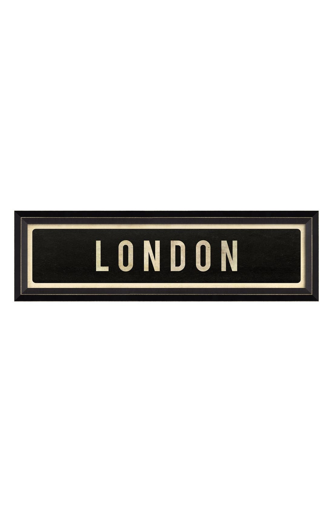 Main Image - Spicher and Company 'London' Vintage Look Street Sign Artwork