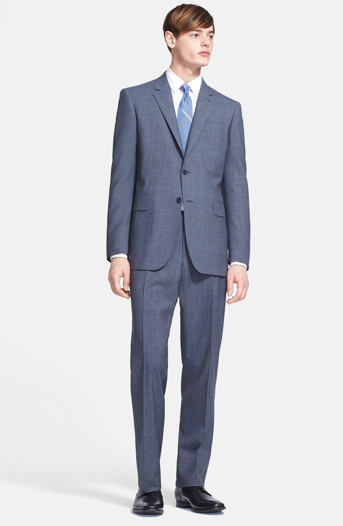Main Image - Burberry London 'Canbury' Glen Plaid Virgin Wool Suit