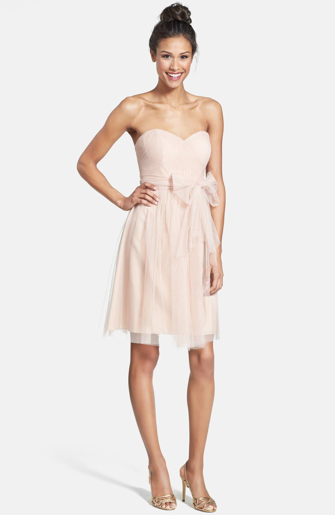 Alternate Image 1 Selected - Jenny Yoo 'Wren' Convertible Tulle Fit & Flare Dress