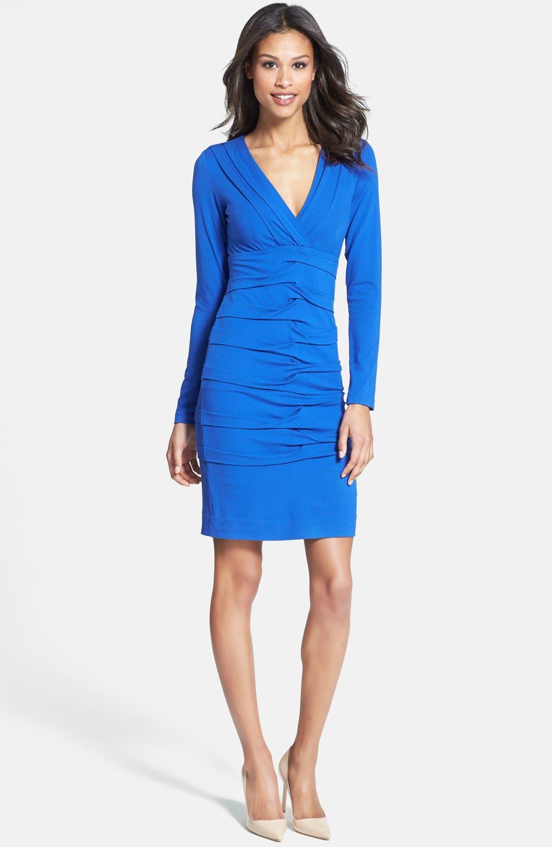 Main Image - Nicole Miller Tuck Detail Jersey Dress