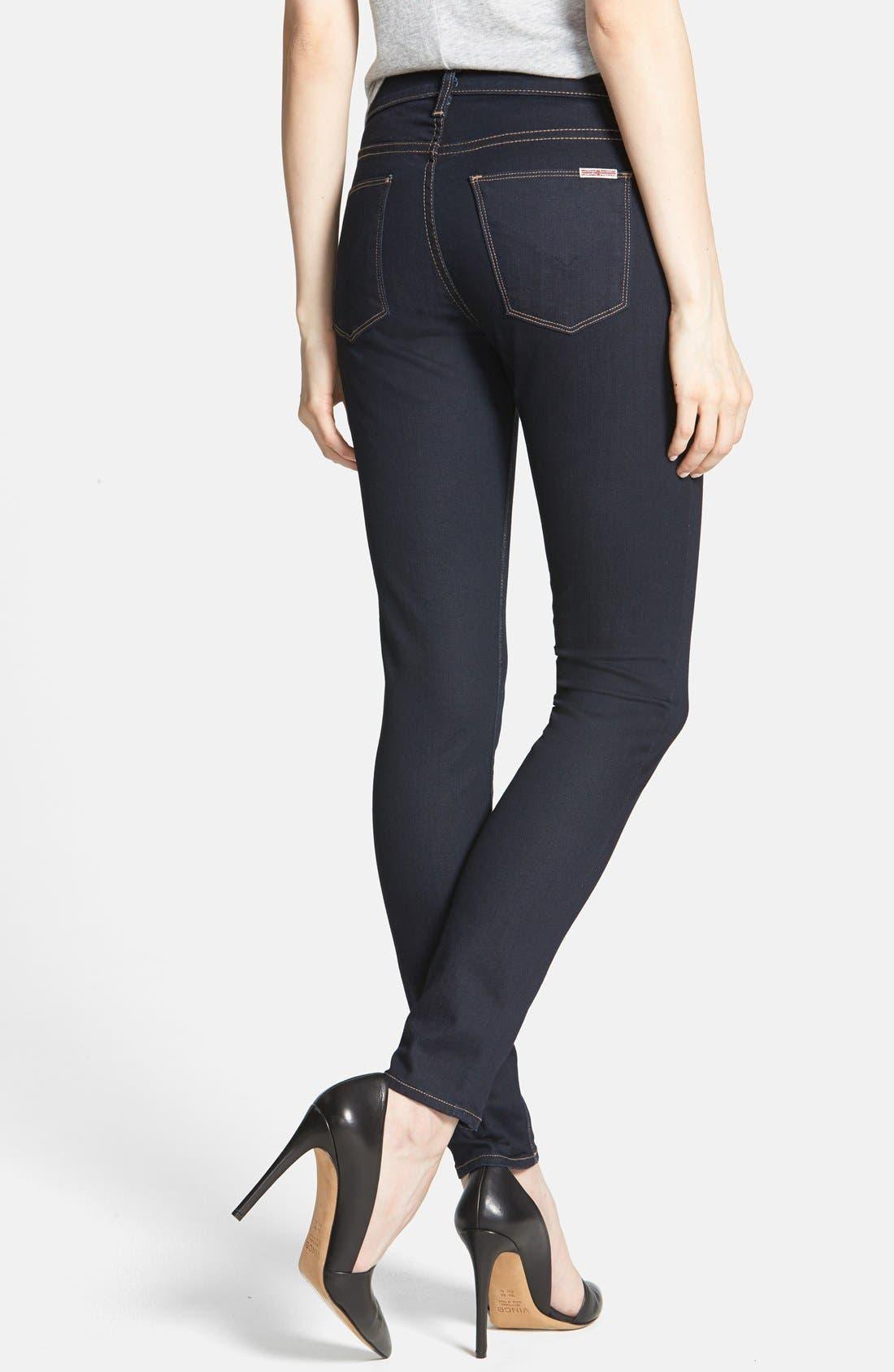 Alternate Image 2  - Hudson Jeans 'Barbara' High Rise Skinny Jeans (Storm)