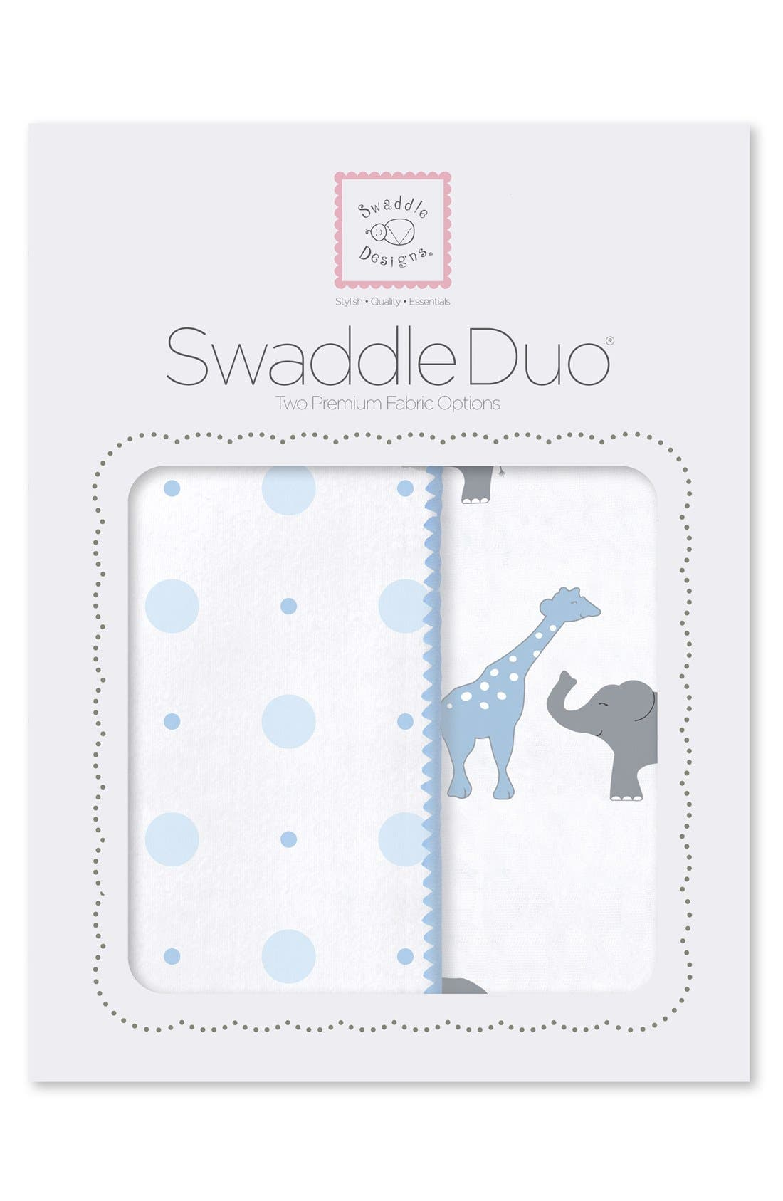Main Image - Swaddle Designs 'Swaddle Duo' Receiving & Swaddling Blankets