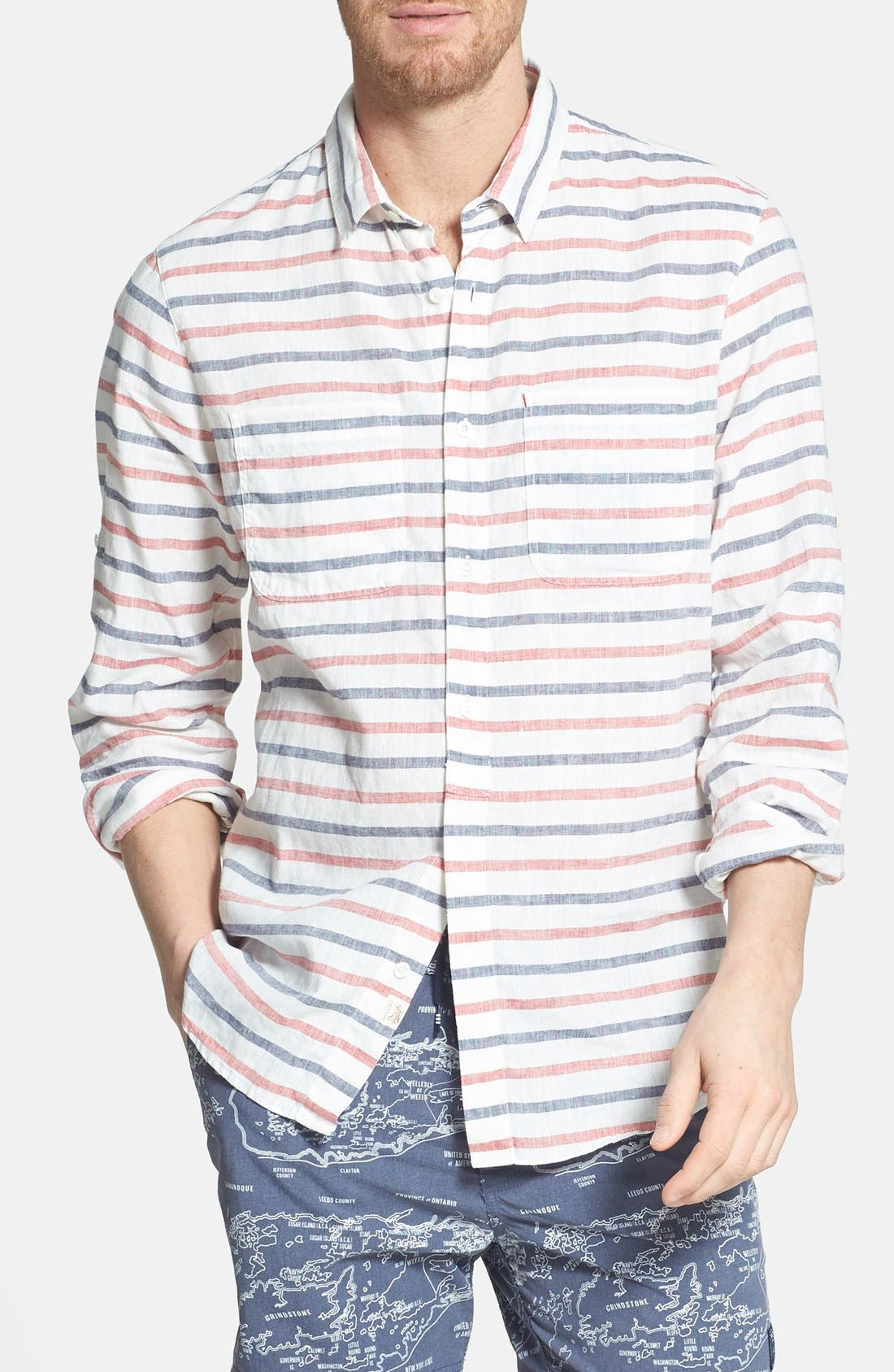 Alternate Image 1 Selected - Woolrich 'James' Slim Fit Shirt