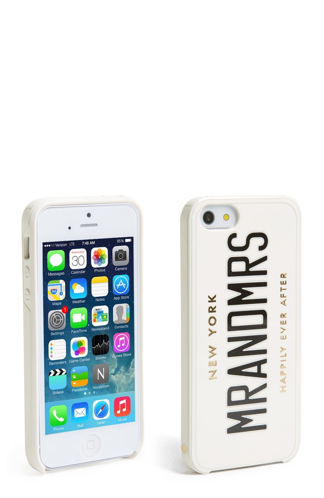 Alternate Image 1 Selected - kate spade new york 'wedding belles' iPhone 5 & 5s case