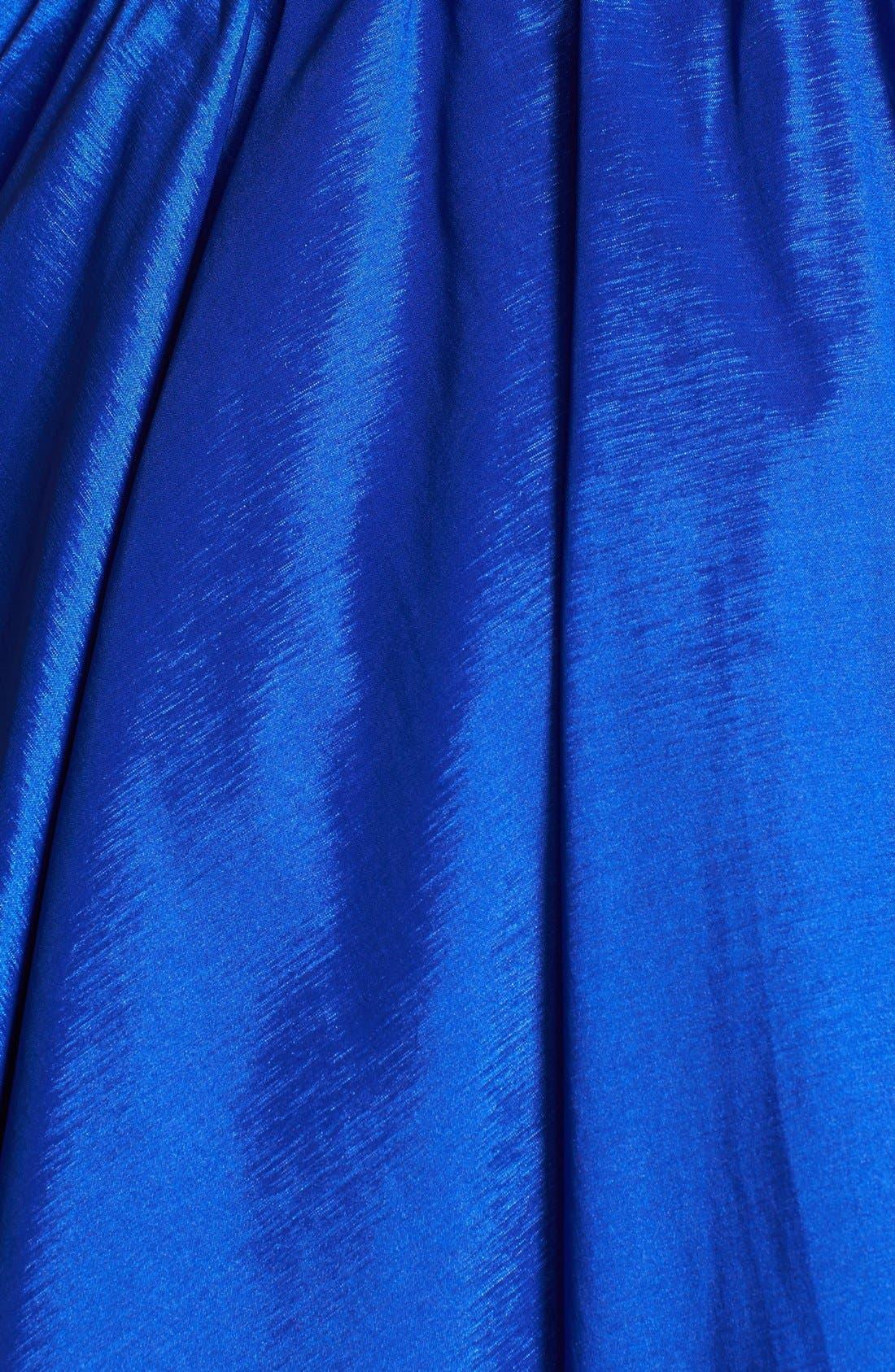 Alternate Image 4  - Aidan Mattox Strapless Lace Trim Taffeta Dress (Online Only)