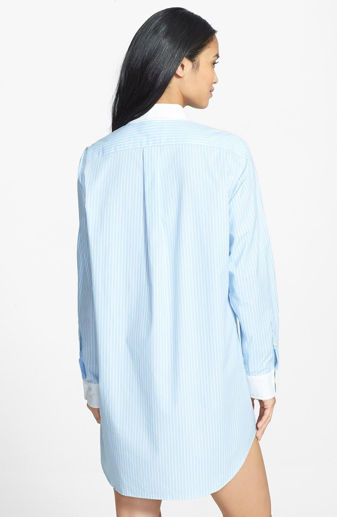 Alternate Image 2  - Lauren Ralph Lauren Poplin Sleep Shirt