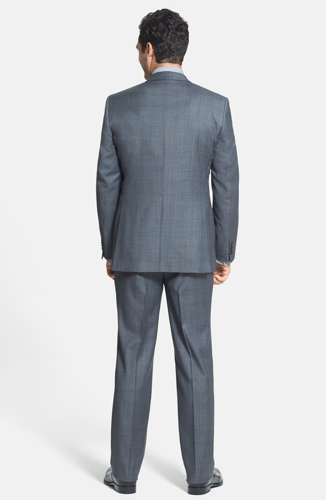 Alternate Image 2  - David Donahue Classic Fit Wool Suit