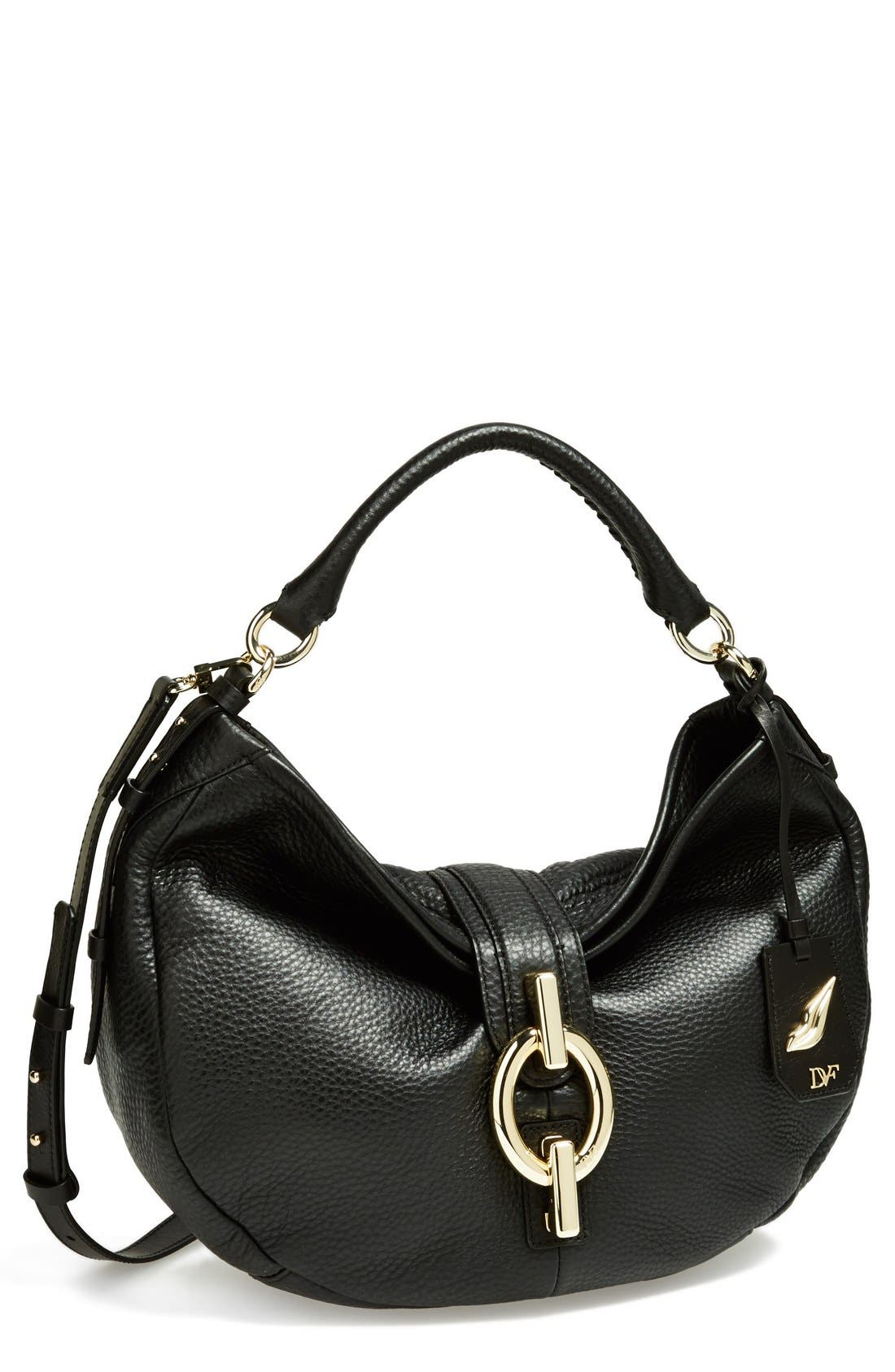 Alternate Image 1 Selected - Diane von Furstenberg 'Sutra' Grainy Leather Hobo