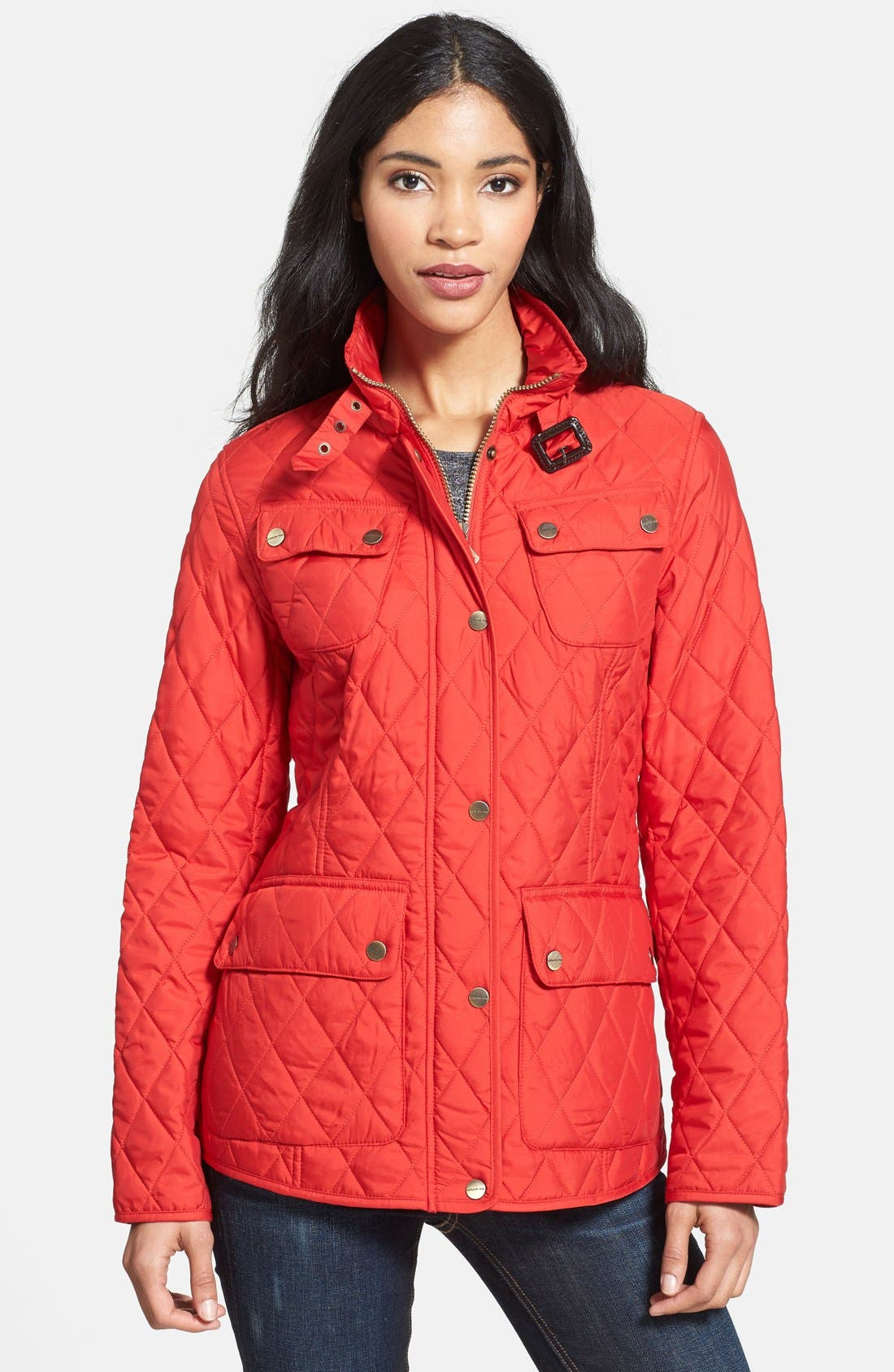 Alternate Image 1 Selected - London Fog Four-Pocket Quilted Jacket