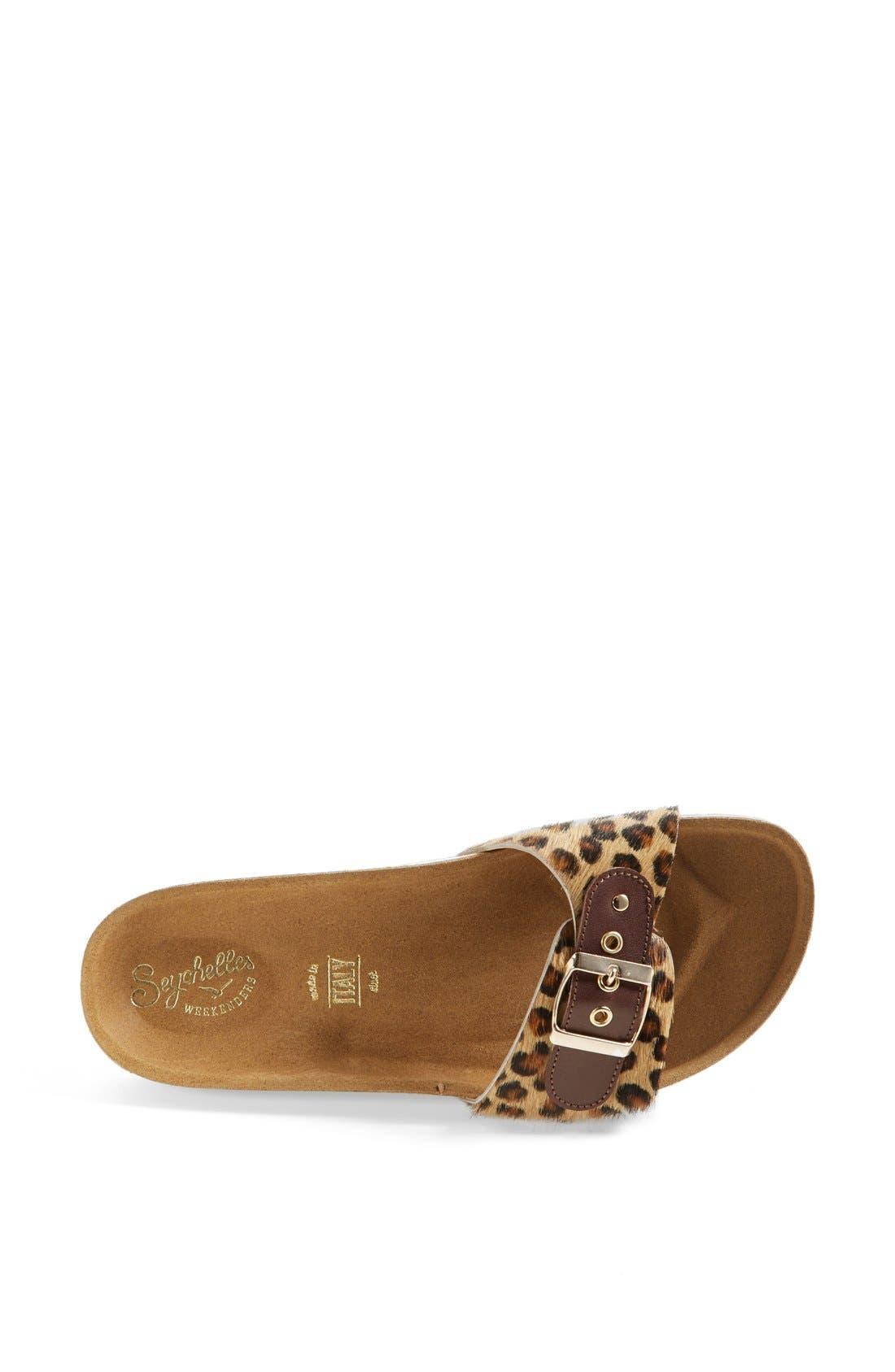 Alternate Image 3  - Seychelles 'So Far Away' Leopard Print Calf Hair Sandal