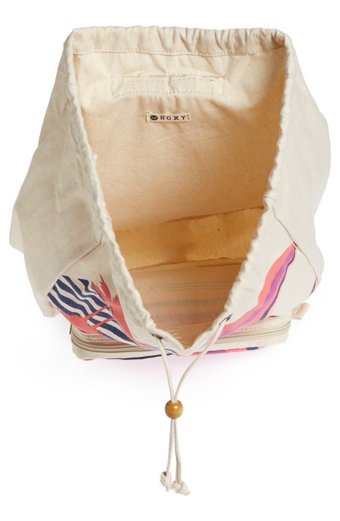 Alternate Image 3  - Roxy 'Flybird' Drawstring Backpack (Girls)