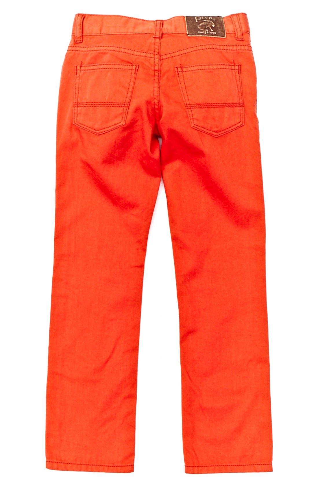 Alternate Image 2  - Peek 'Slouch' Twill Jeans (Toddler Boys, Little Boys & Big Boys)