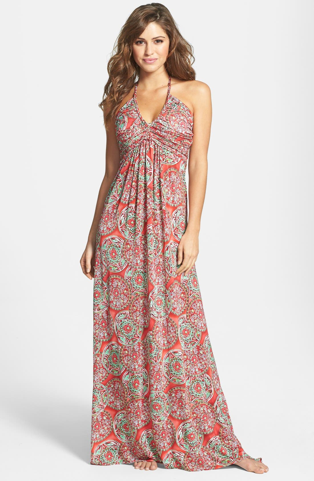 Alternate Image 1 Selected - Luli Fama 'Cocktail Hour' Braided Strap Maxi Dress