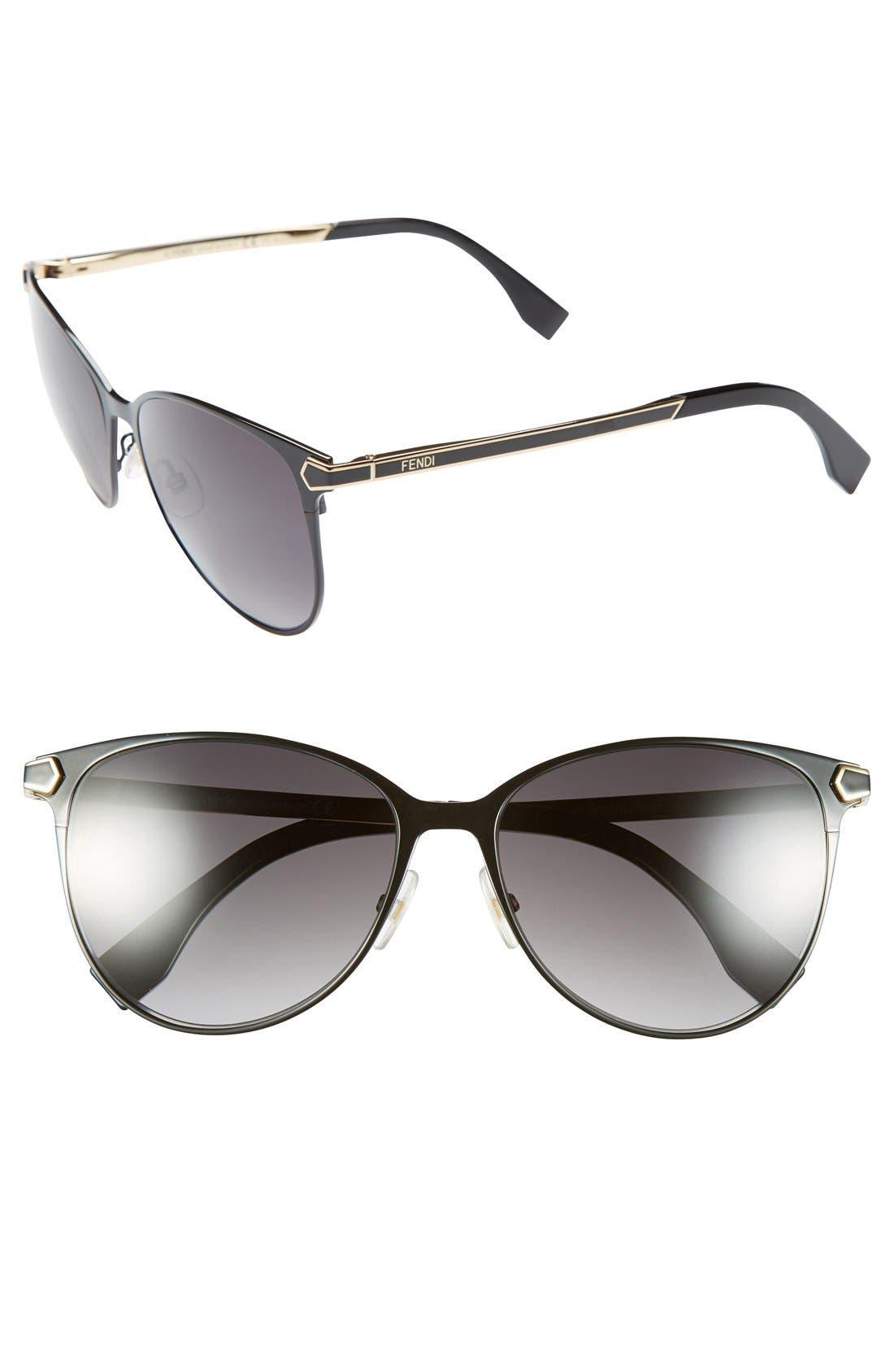 Main Image - Fendi 57mm Retro Sunglasses