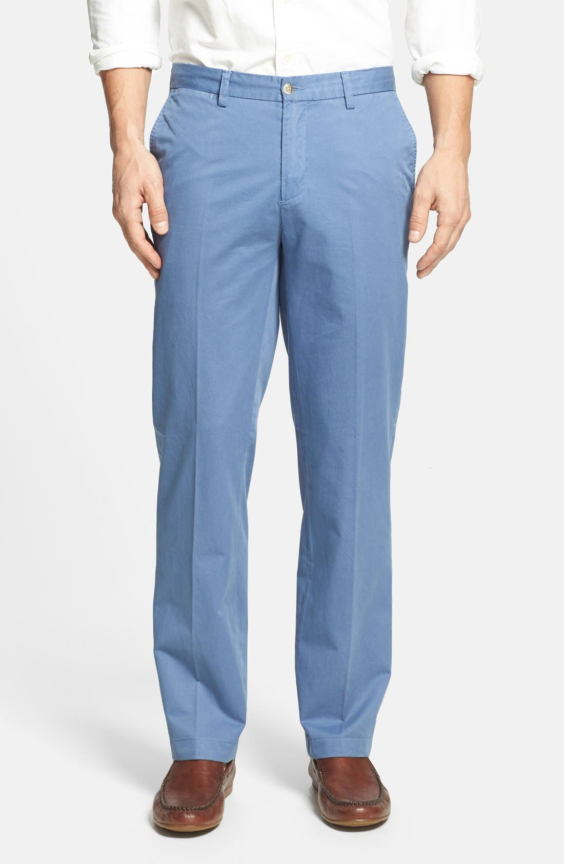 Alternate Image 1 Selected - Maker & Company 'Keck' Easy Fit Flat Front Trousers
