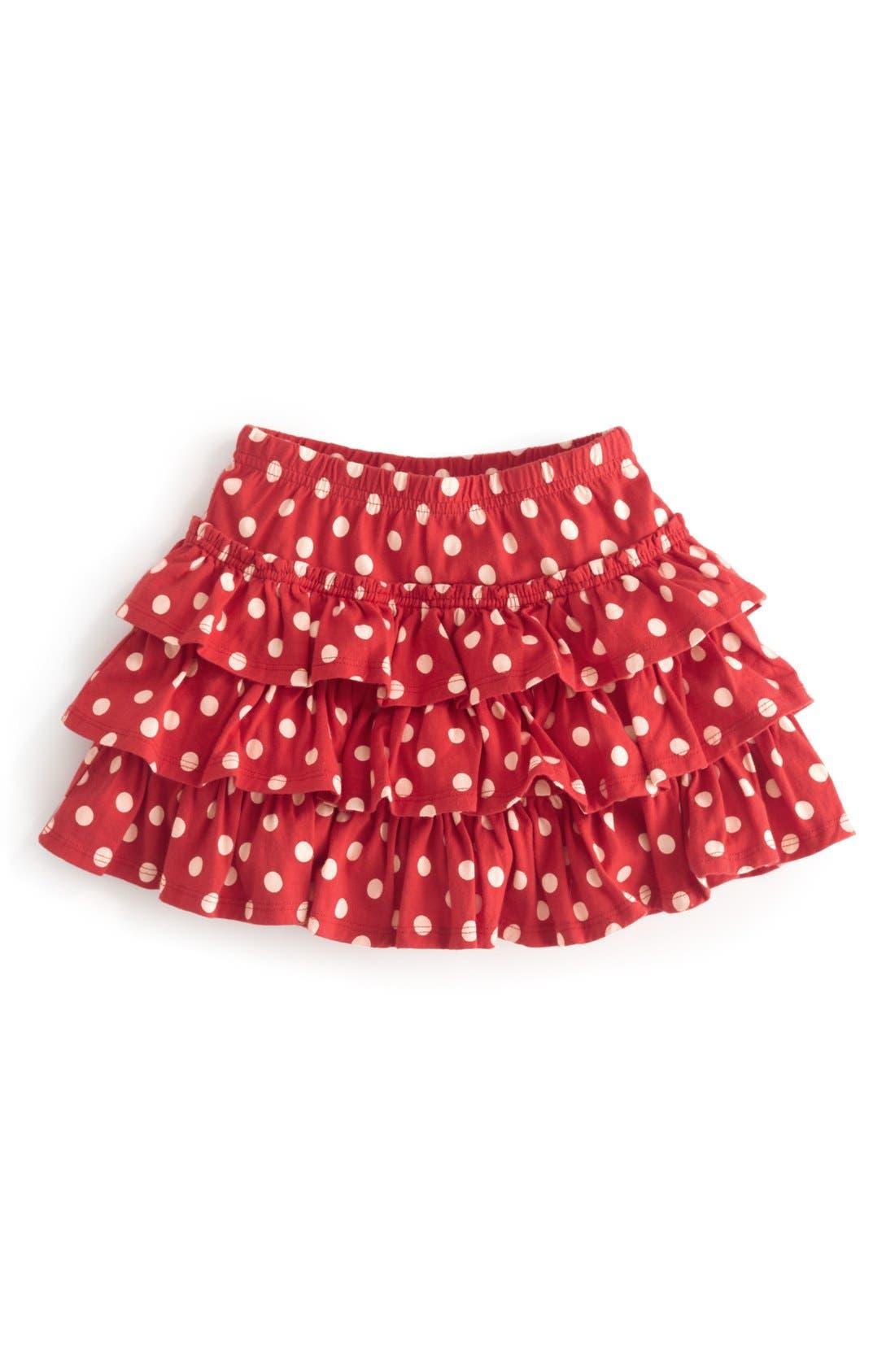 Alternate Image 1 Selected - Mini Boden 'Spotty' Ruffle Skirt (Little Girls & Big Girls)