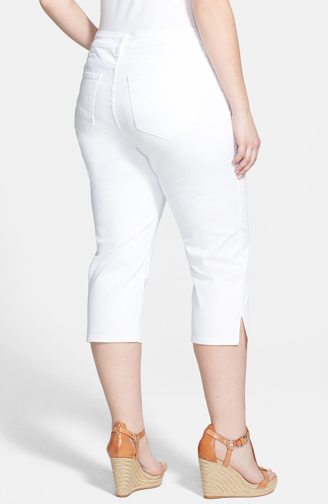 Alternate Image 2  - NYDJ 'Hayden' Stretch Cotton Crop Pants (Plus Size)