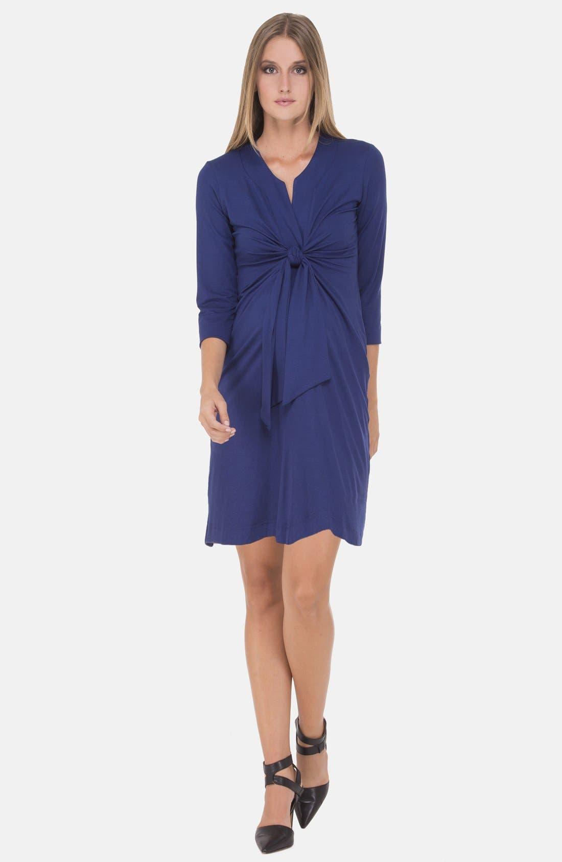 Main Image - Olian Tie Front Maternity Dress