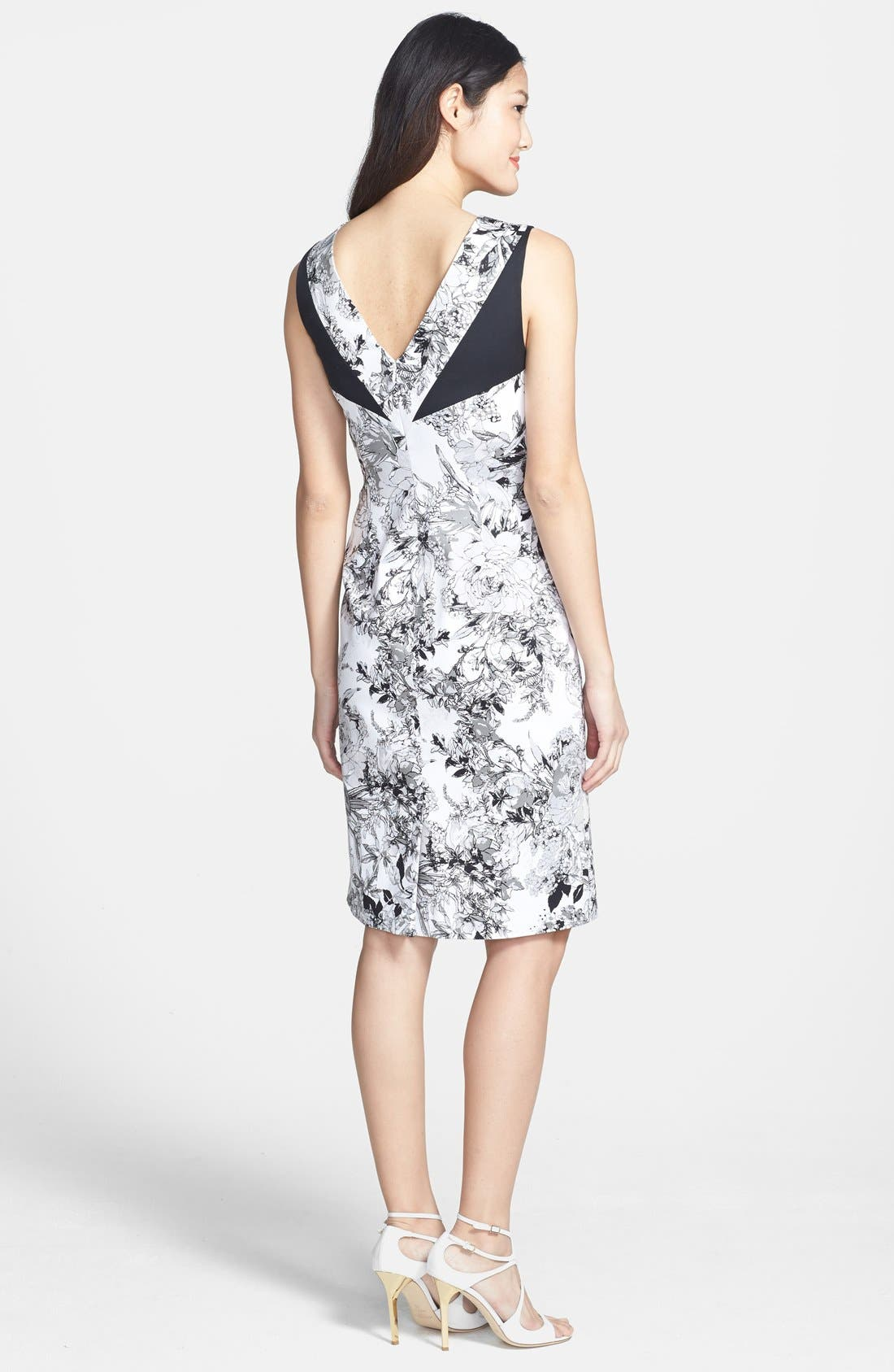Alternate Image 2  - Adrianna Papell Print Sheath Dress