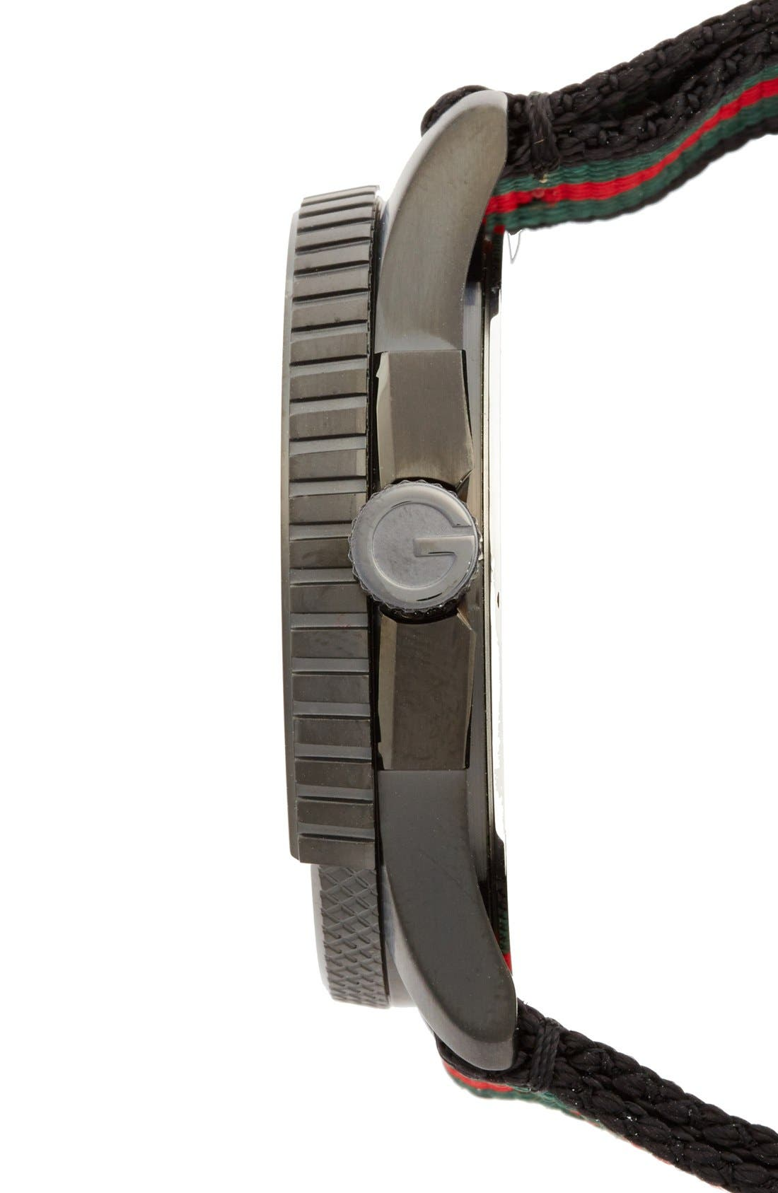 Alternate Image 5  - Gucci 'G Timeless' Nylon Strap Watch, 44mm