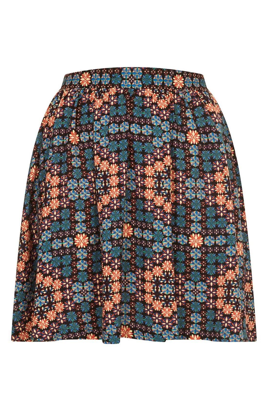 Alternate Image 3  - Topshop 'Milly' Tile Print Skirt