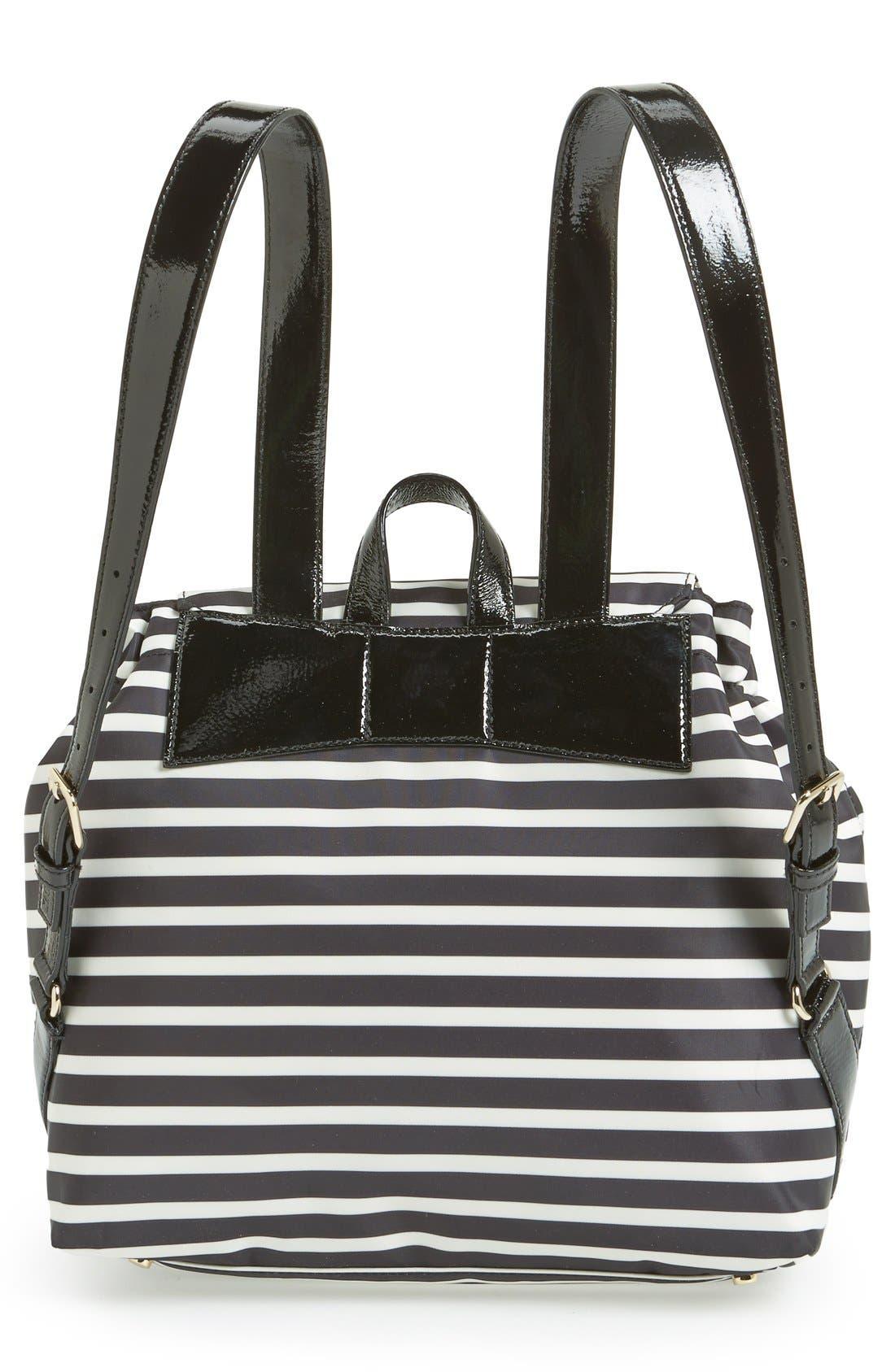 Alternate Image 4  - kate spade new york 'pattern' stripe backpack