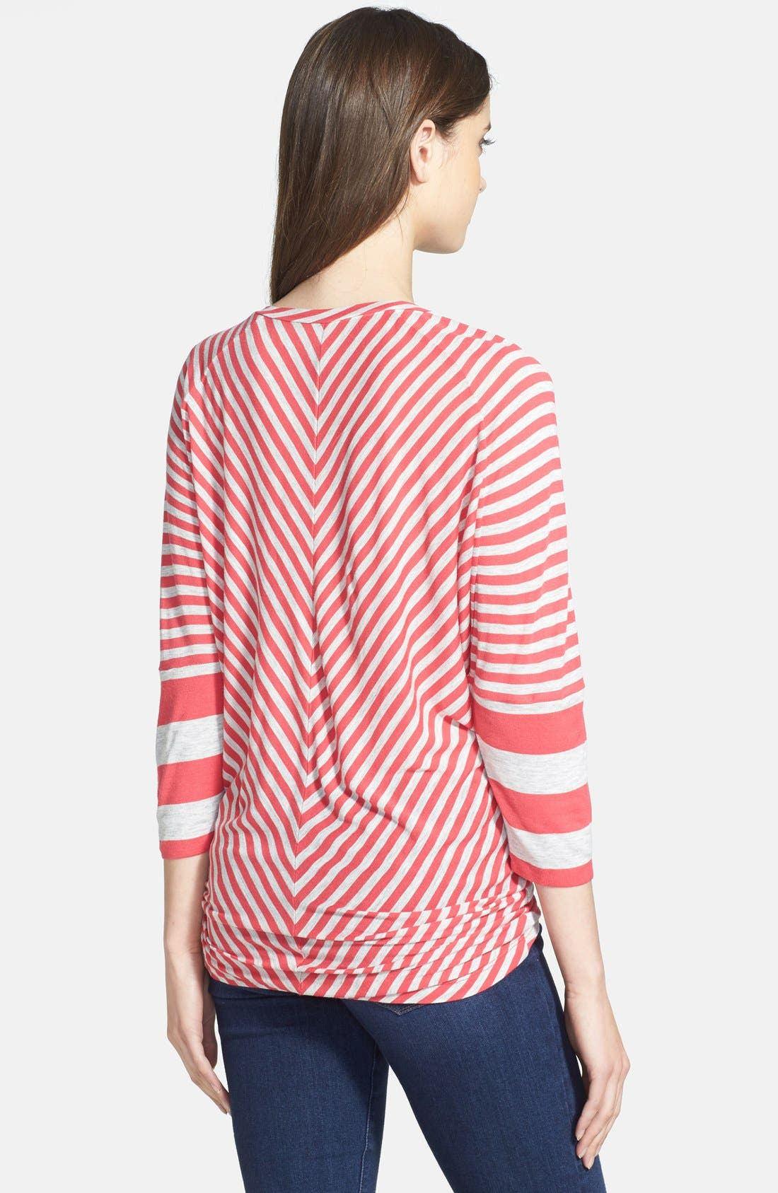 Alternate Image 2  - Caslon® Mix Stripe Wedge Tee