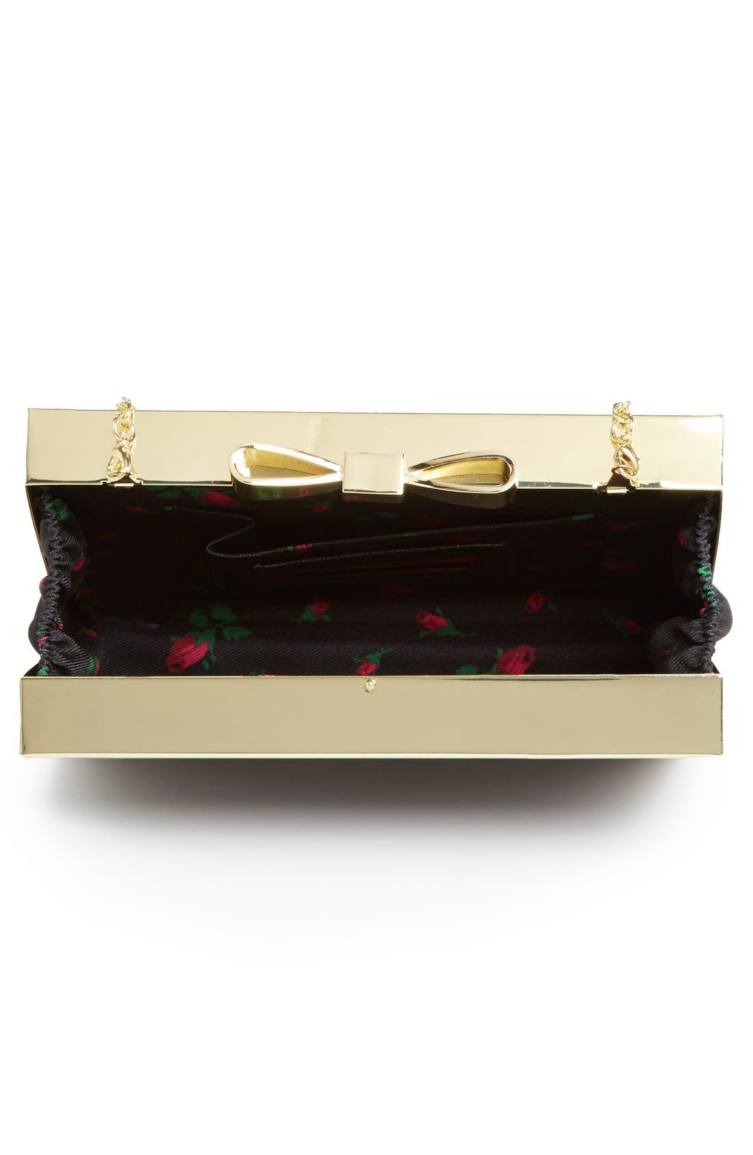 Alternate Image 3  - Betsey Johnson Bow Lock Frame Clutch