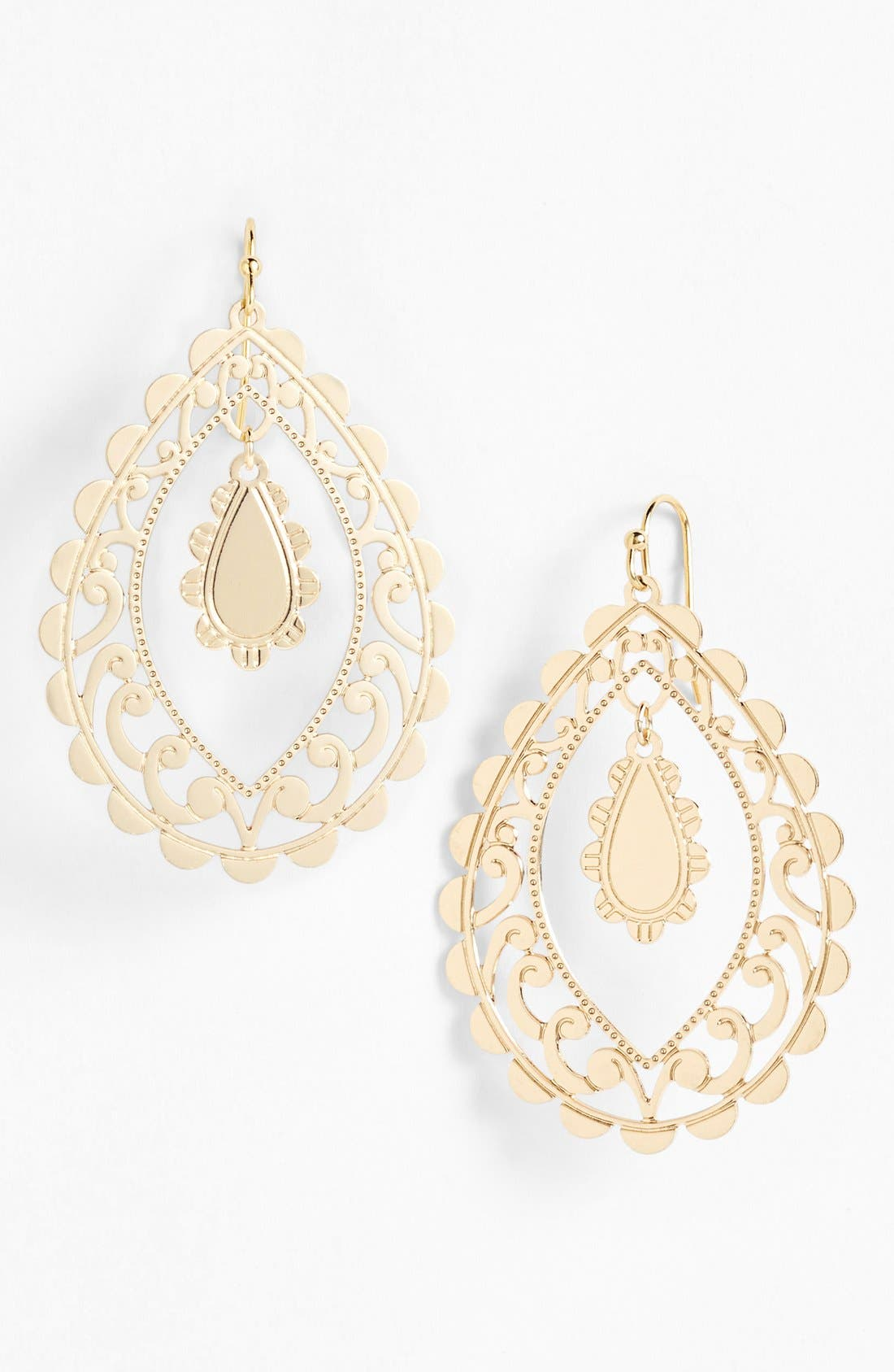 Alternate Image 1 Selected - Nordstrom 'Delicate Lace' Open Drop Earrings