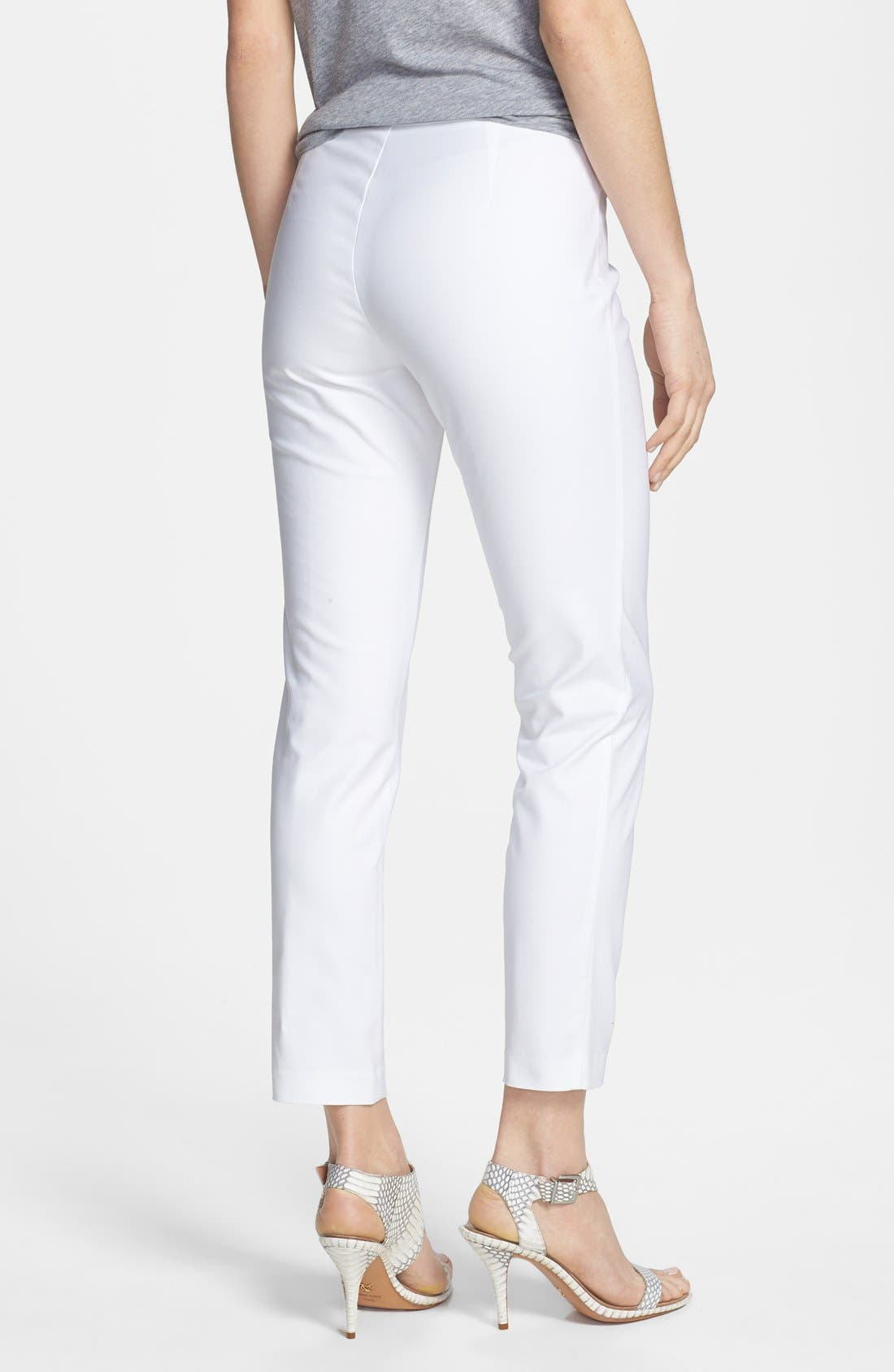 Alternate Image 2  - Kenneth Cole New York 'Khloee' Crop Stretch Cotton Pants (Petite)