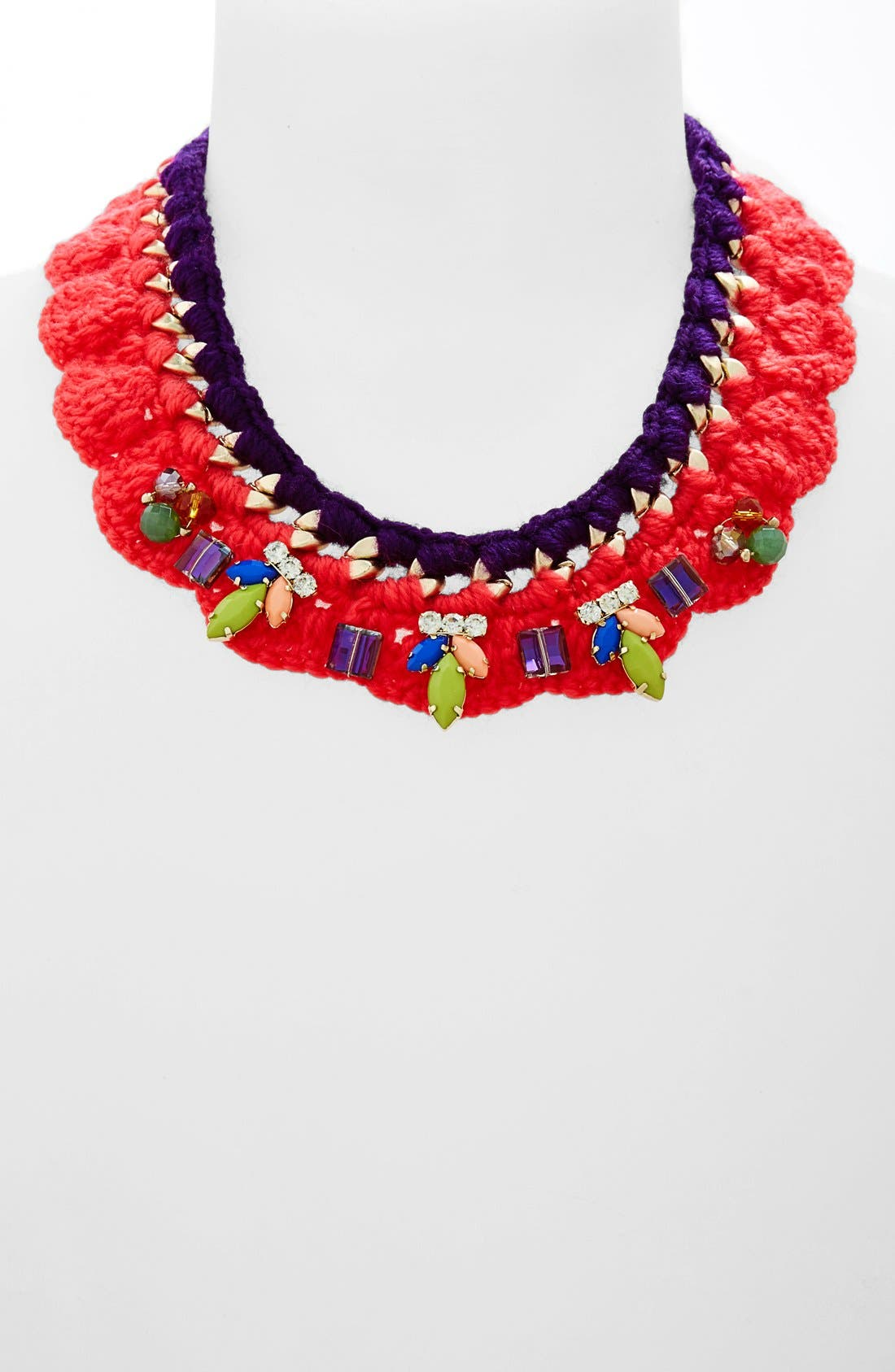 Main Image - Guinevere Crochet Collar Necklace