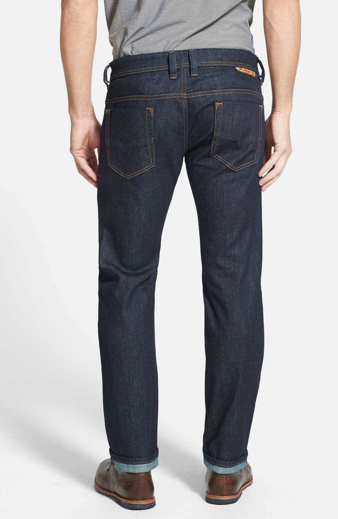 Alternate Image 2  - DIESEL® 'Safado' Slim Fit Selvedge Jeans (0604B)